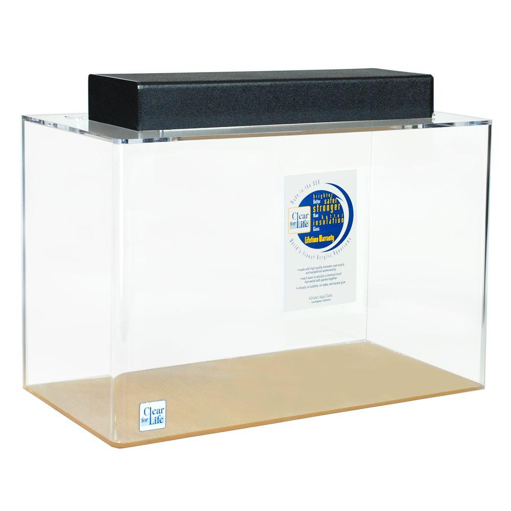 Clear for life 20 gallon rectangle aquarium size 20 gal blue for Petsmart fish guarantee