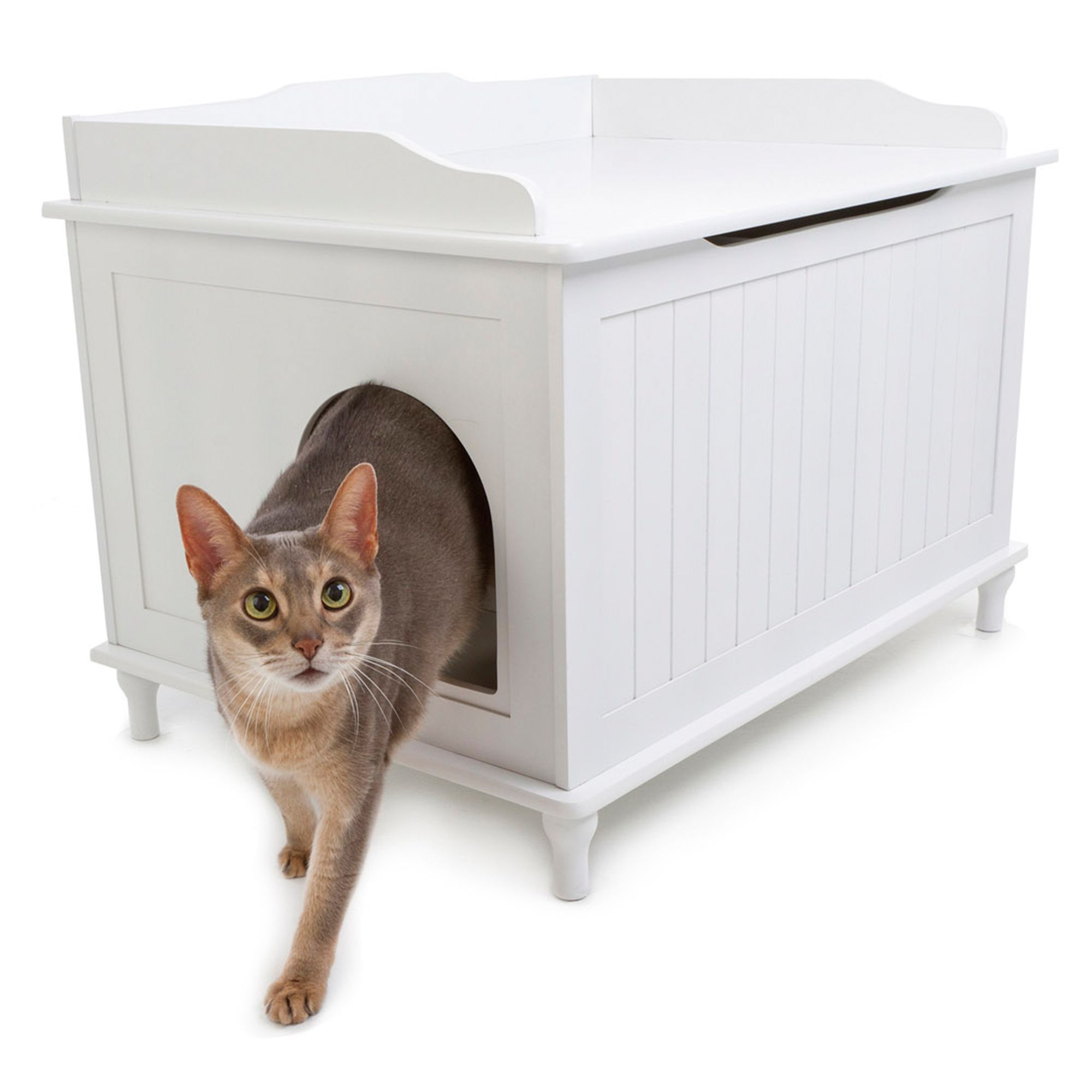 Designer Pet Products Designer Cat Litter Box Size 29.1l X 20.6w X 20.8h White