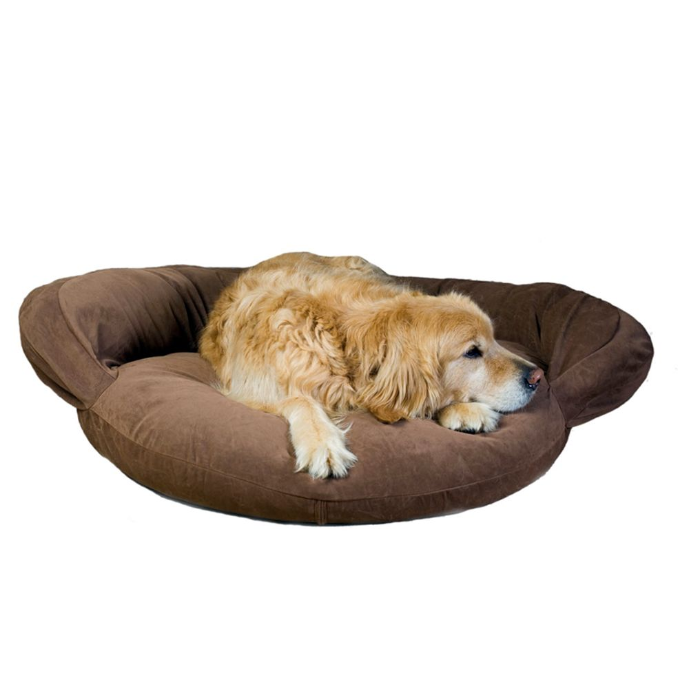 Carolina Pet Bolster Personalized Pet Bed Size 35l X 11w X 4h Brown