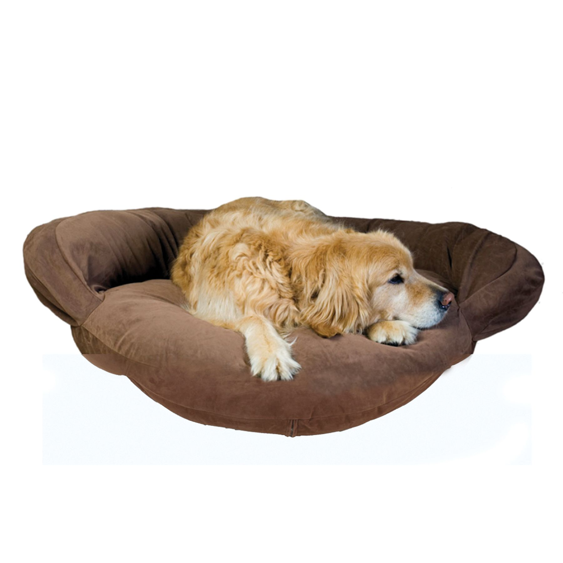 Carolina Pet Bolster Personalized Pet Bed Size 50l X 15w X 4h Brown