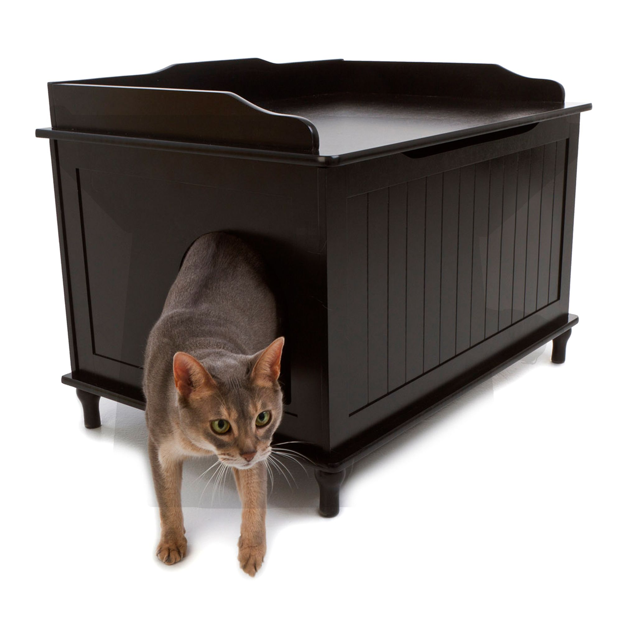 Designer Pet Products Designer Cat Litter Box Size 29.1l X 20.6w X 20.8h Black