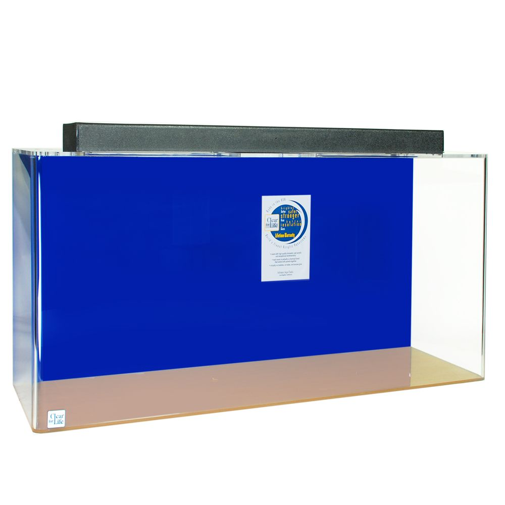 Clear for life 135 gallon rectangle aquarium size 135 gal for Rectangle fish tank