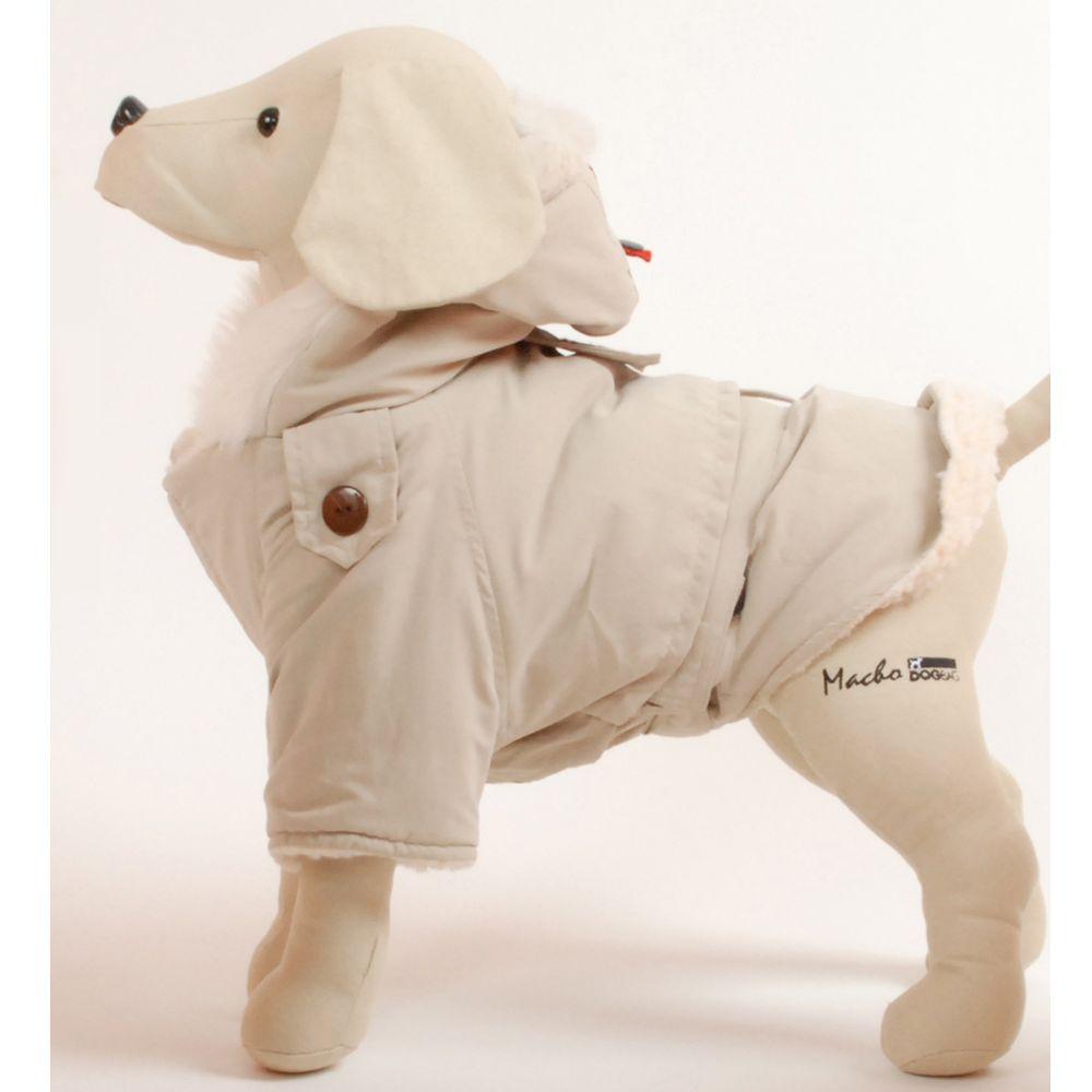 Petego Dog Rich Alaskan Coat Size 8 Beige White
