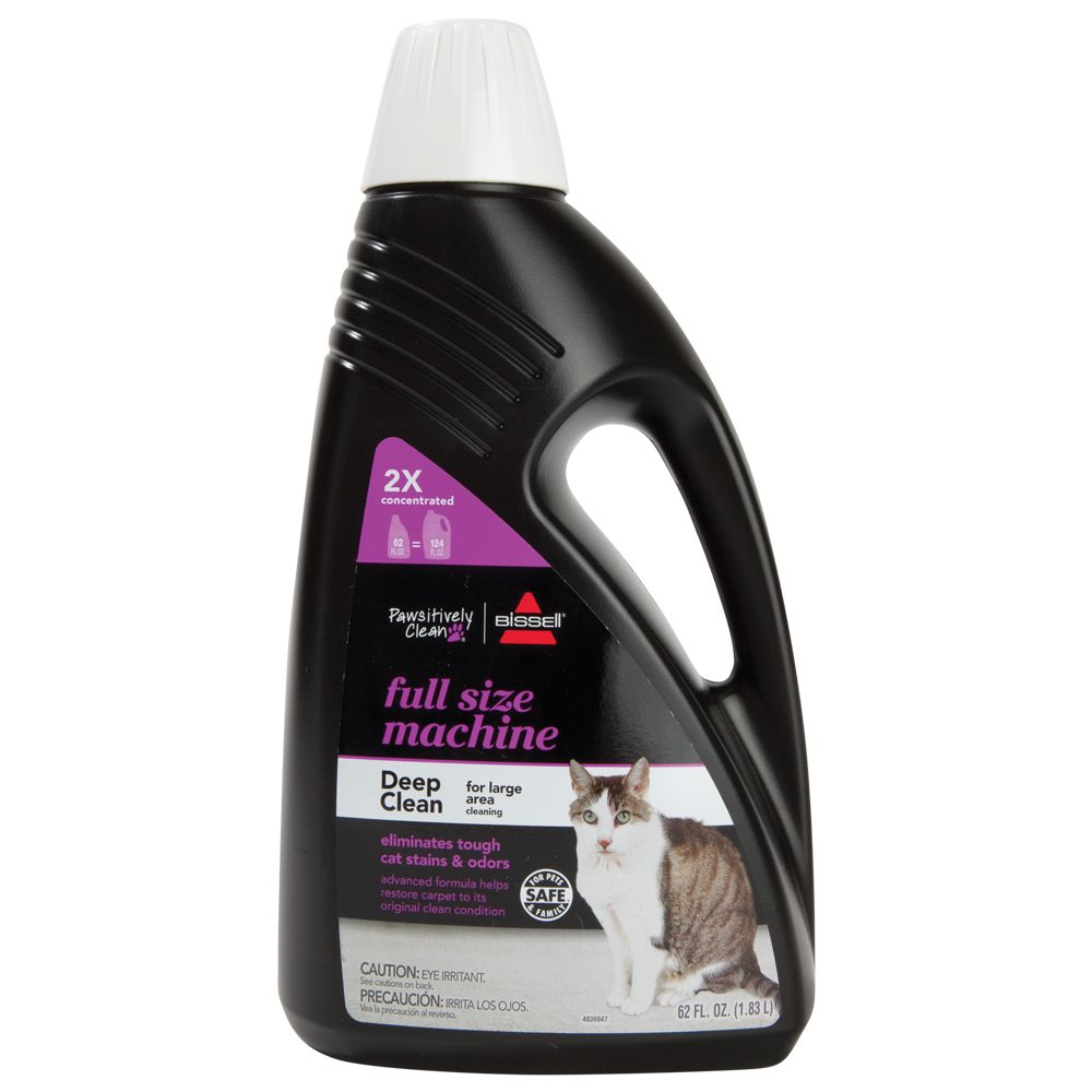 Bissell Pawsitively Take a bath Full Size Machine Concentrated Cat Stain and Odor Remover size: 52 Fl Oz