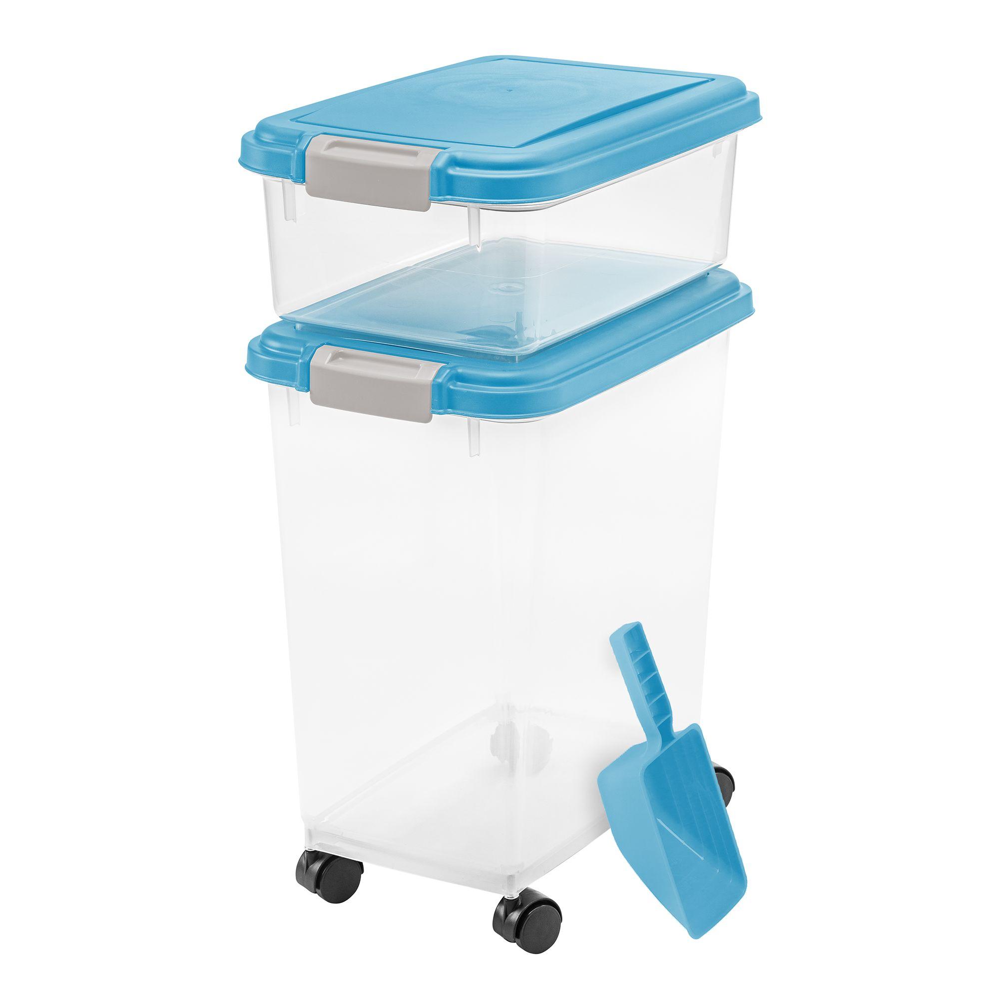 Iris Airtight Pet Food Storage Combo with Scoop, Blue Moon