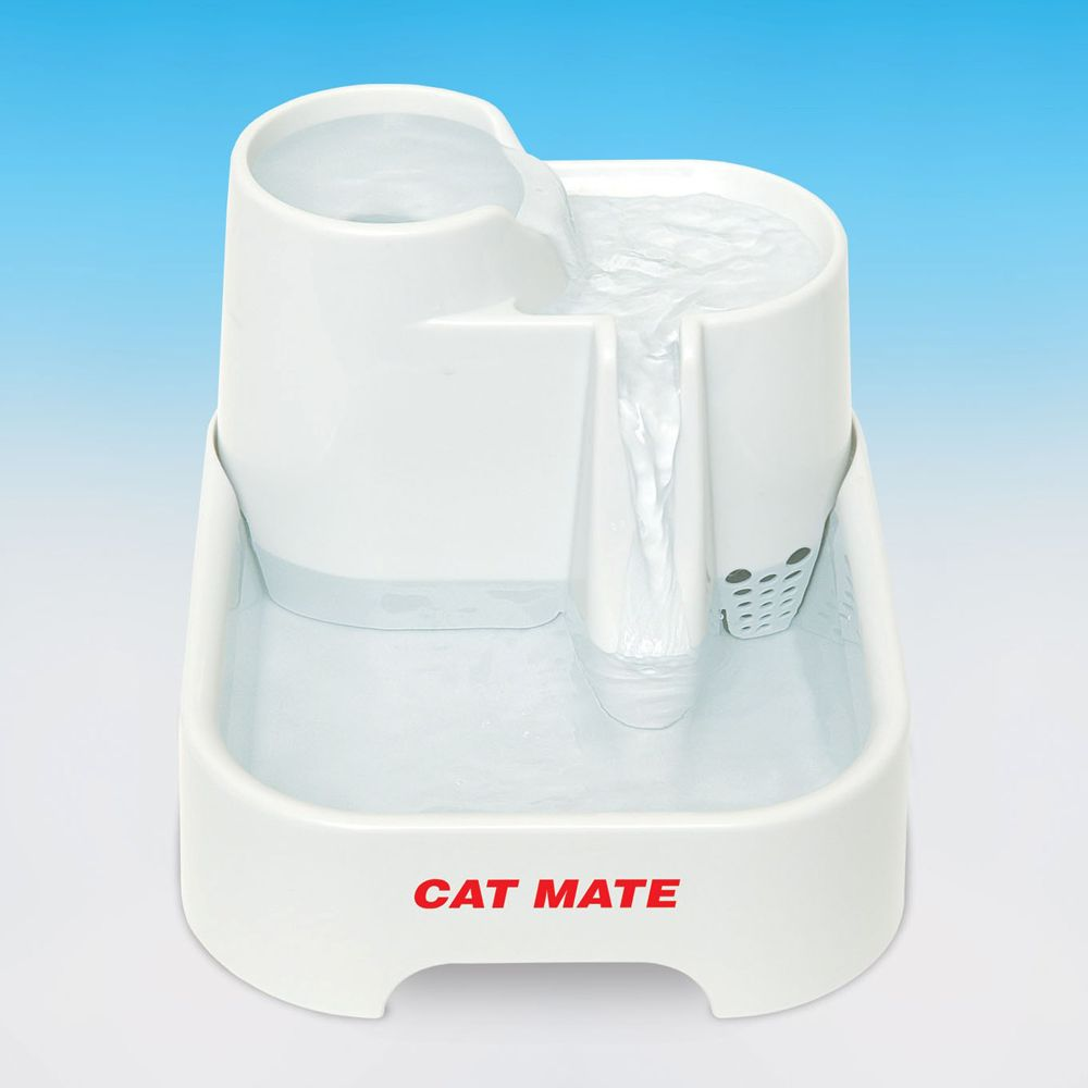 Cat Mate Pet Fountain Size 70 Fl Oz White