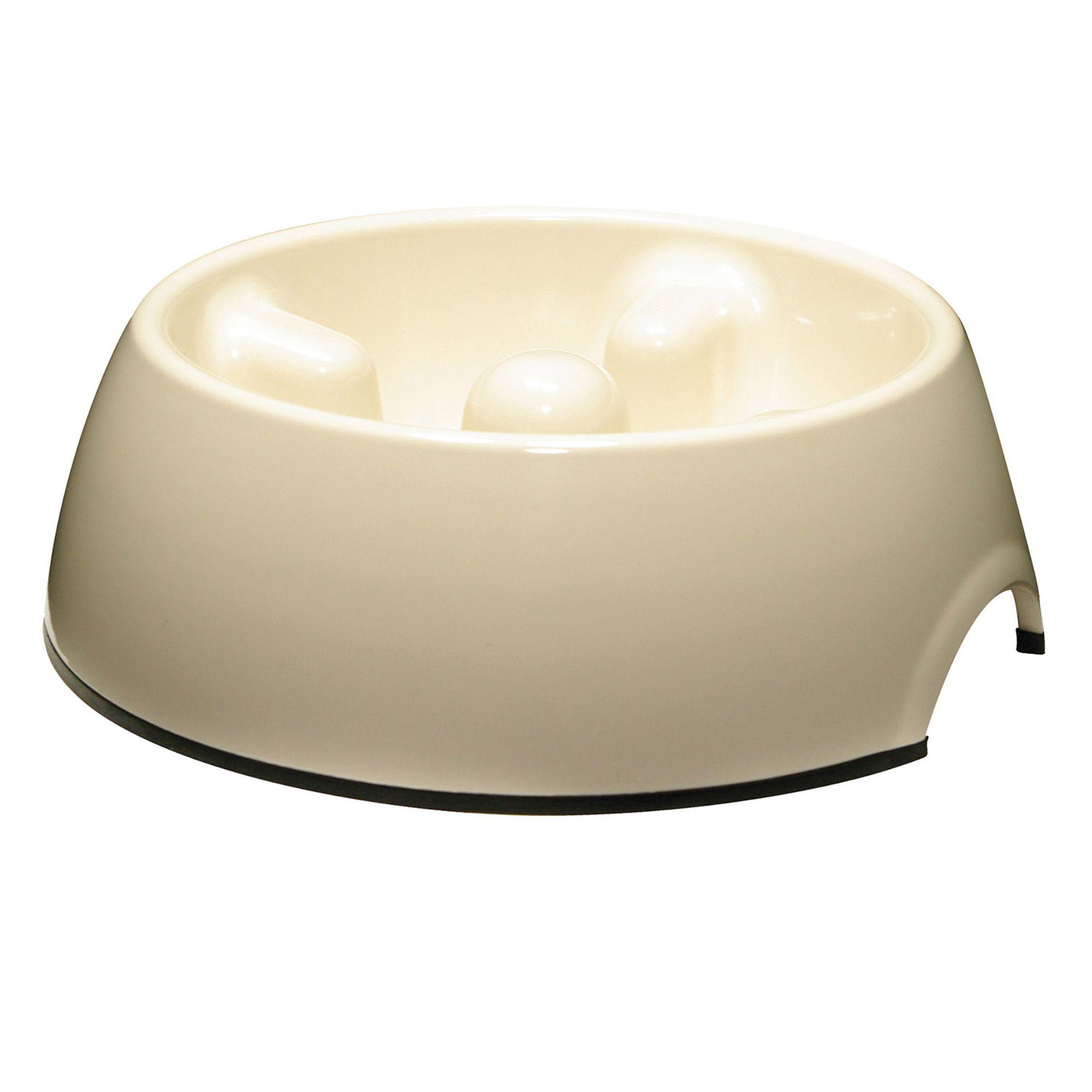 Dogit Go Slow Dog Bowl Size 20.2 Fl Oz White