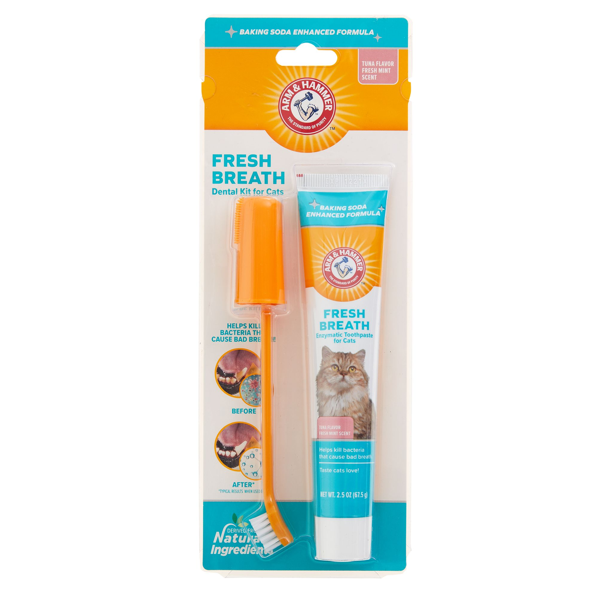 Arm And Hammer Advanced Pet Care Cat Toothpaste And Brush Set Arm Hammer