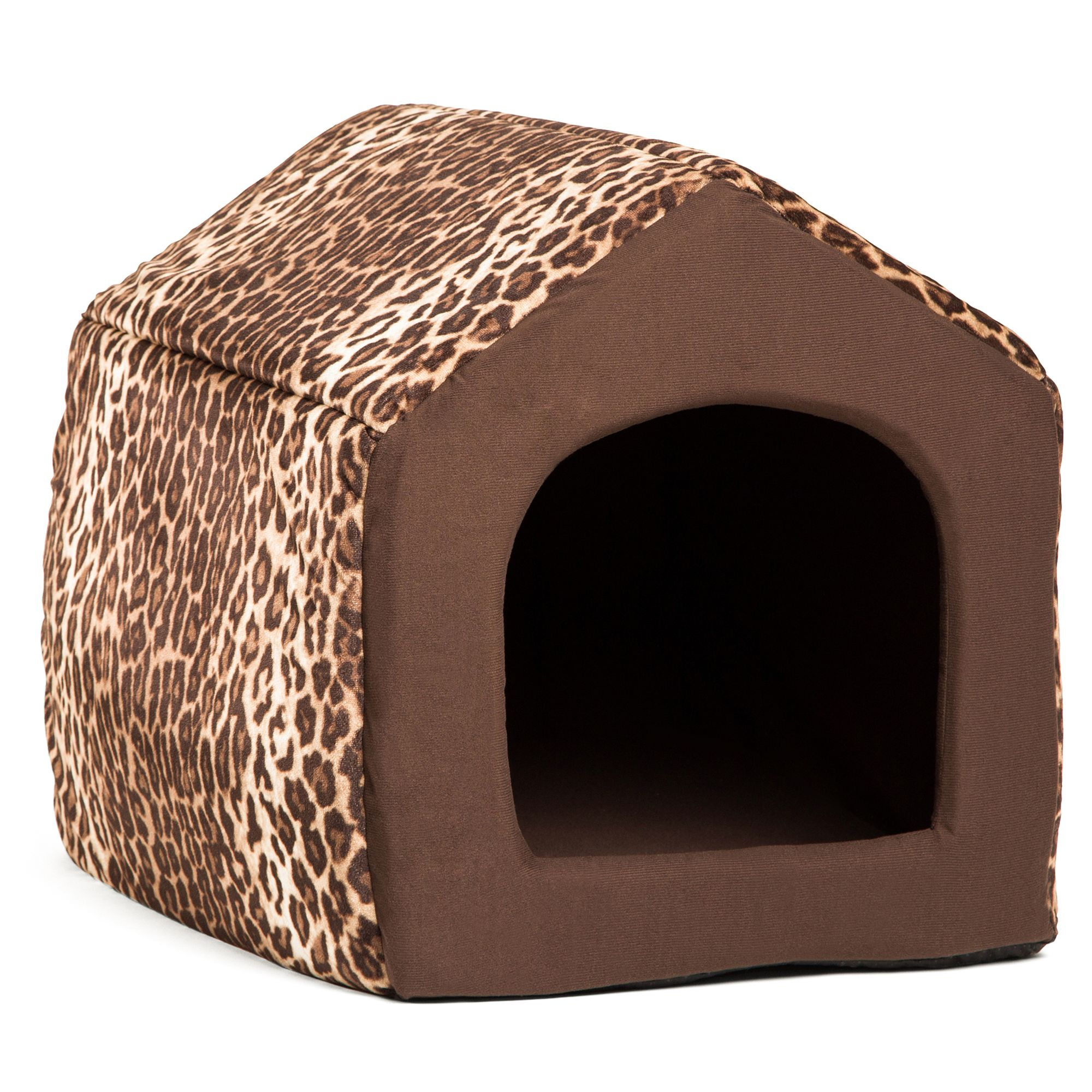 Best Friends By Sheri Convertible House Animal Print Pet Bed Size 18l X 16w X 16h Leopard