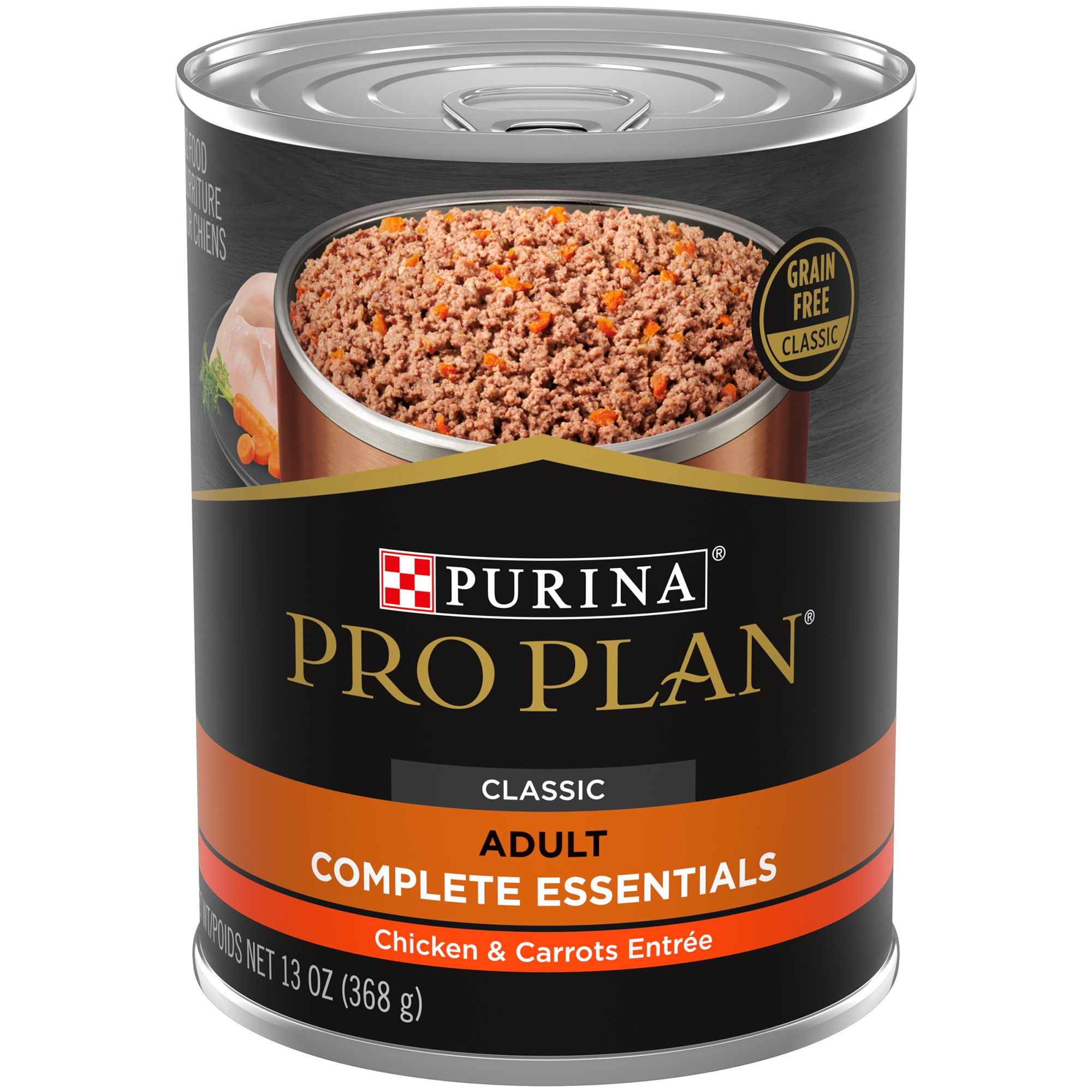 Purina Pro Plan Savor Classic Adult Dog Food - Natural, Grain Free, Chicken and Carrot size: 13 Oz, Ground 5191888