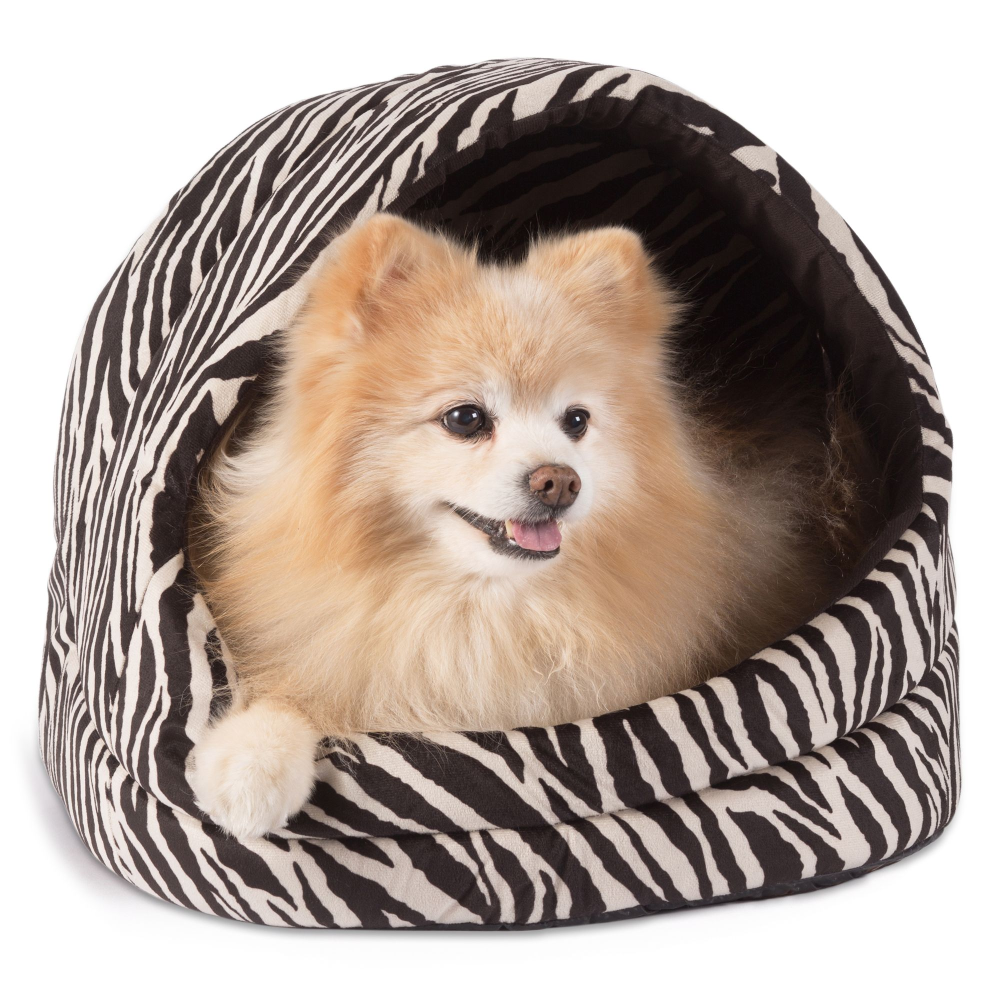 "Best Friends by Sheri Zebra Pet Hut size: 13""L x 16""W x 15""H"