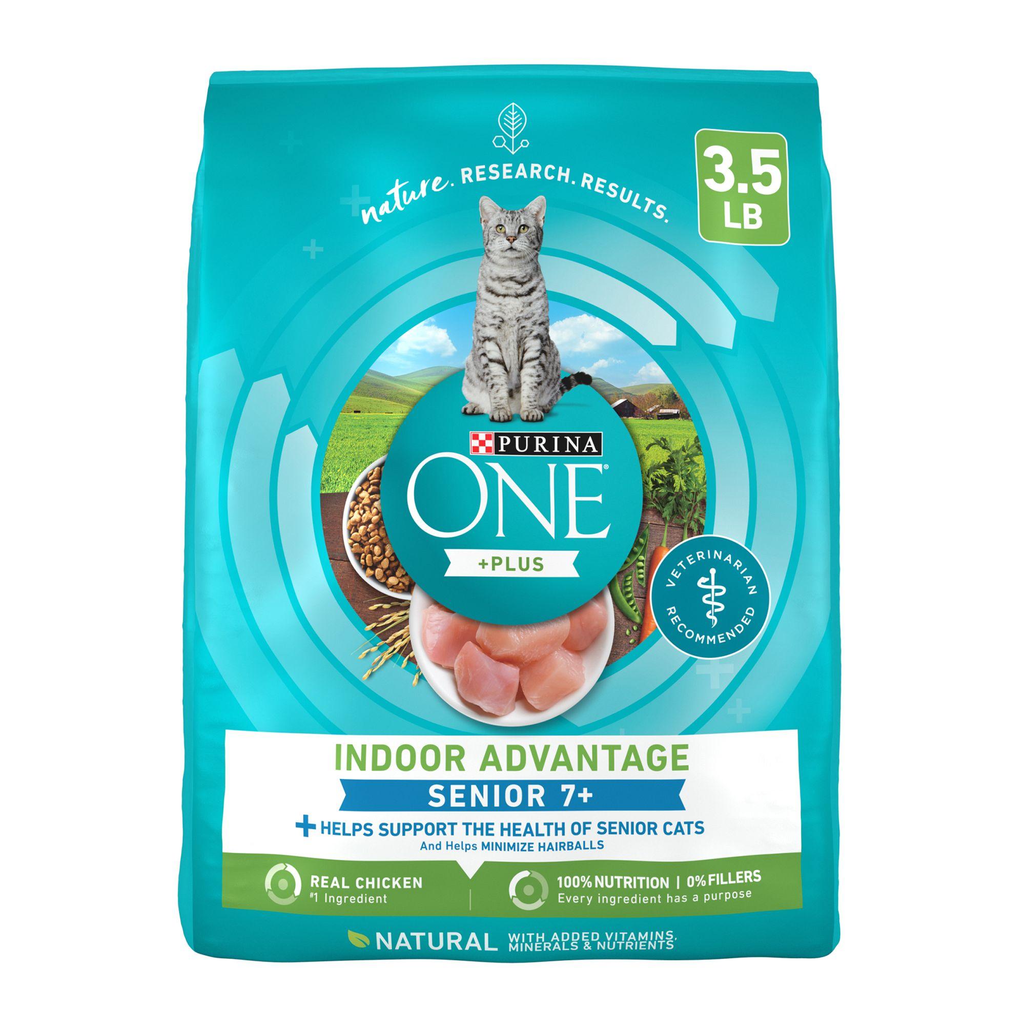 Purina Onereg Smartblendreg Vibrant Maturity Senior Cat Food Size 3.5 Lb