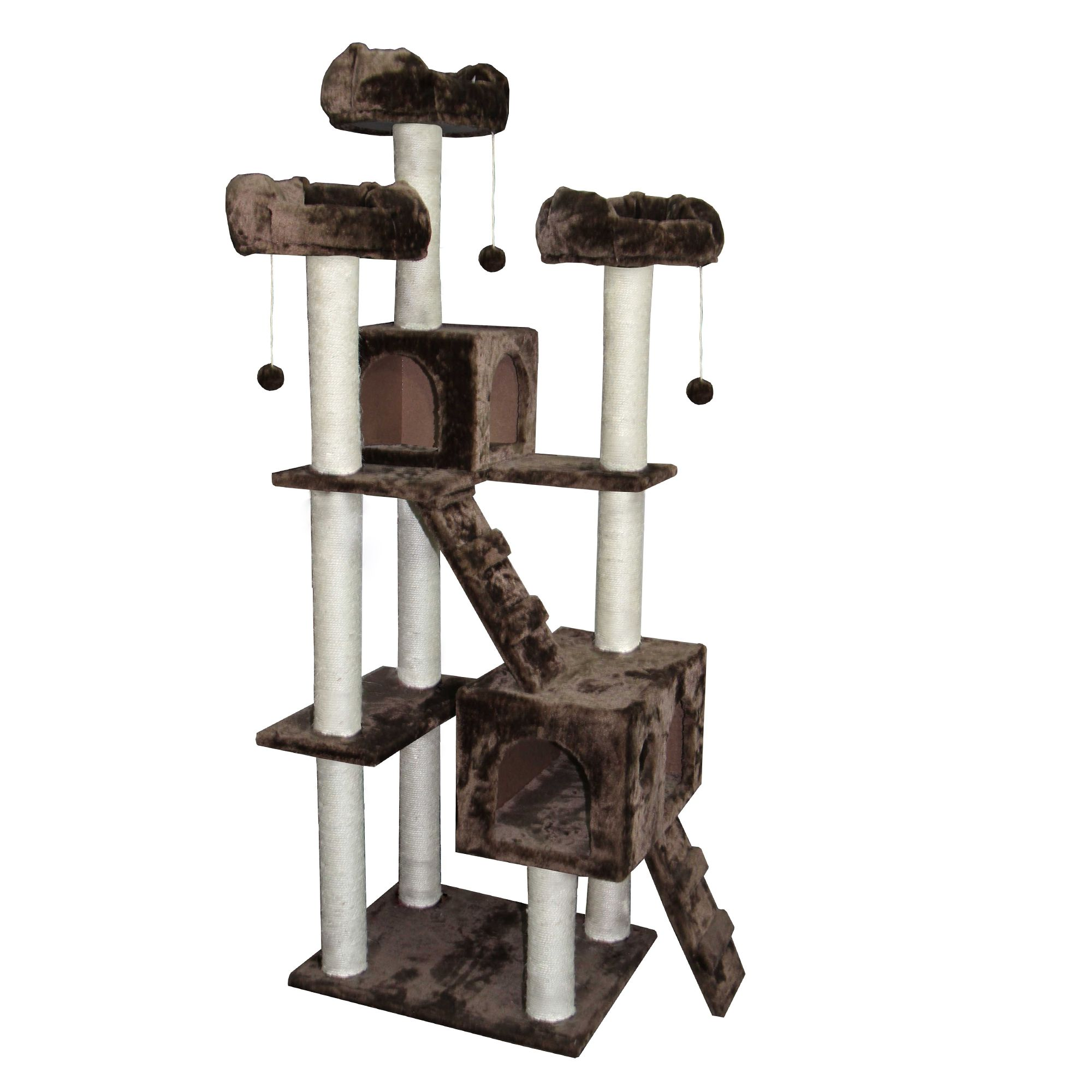 Kitty Mansions Bel Air Cat Tree Brown