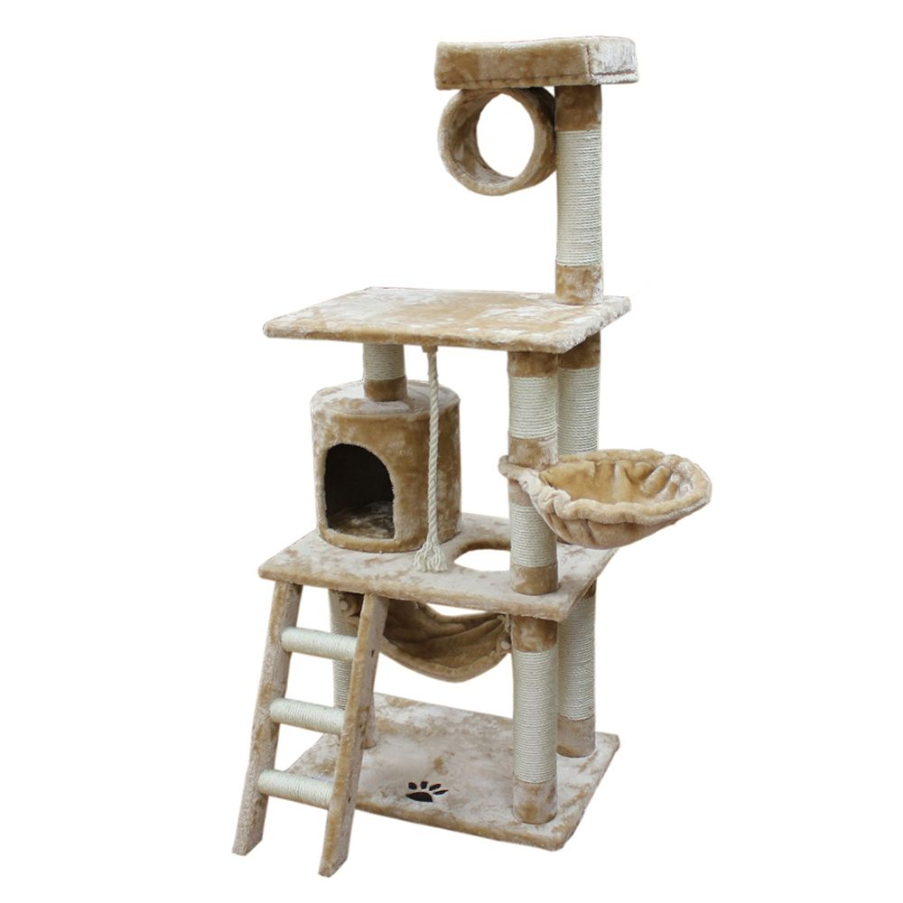 Kitty Mansions Boston Cat Tree Beige