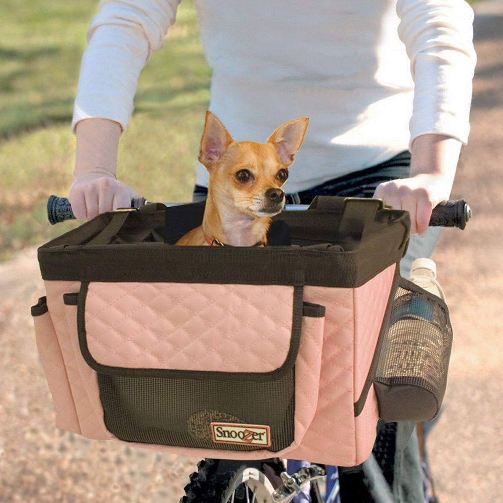 Snoozer Buddy Bike Pet Basket Size 10l X 13w X 10h Pink