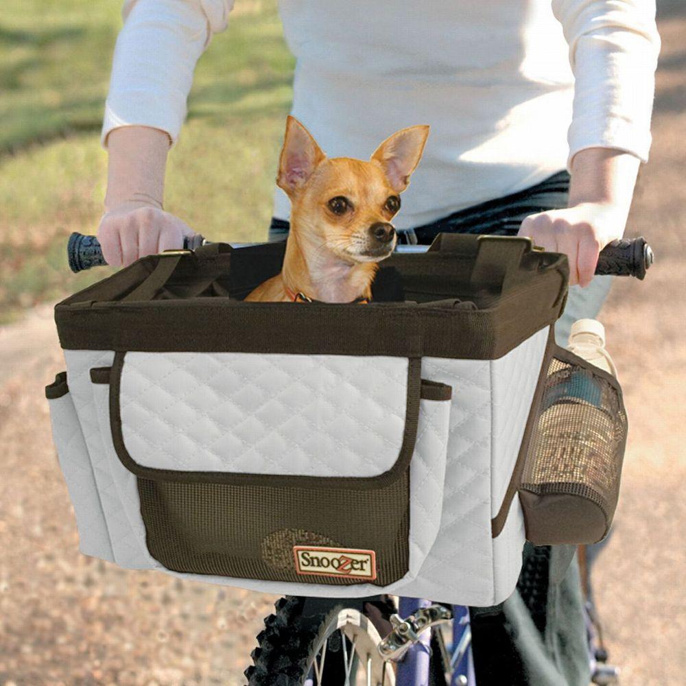 Snoozer Buddy Bike Pet Basket Size 10l X 13w X 10h Gray