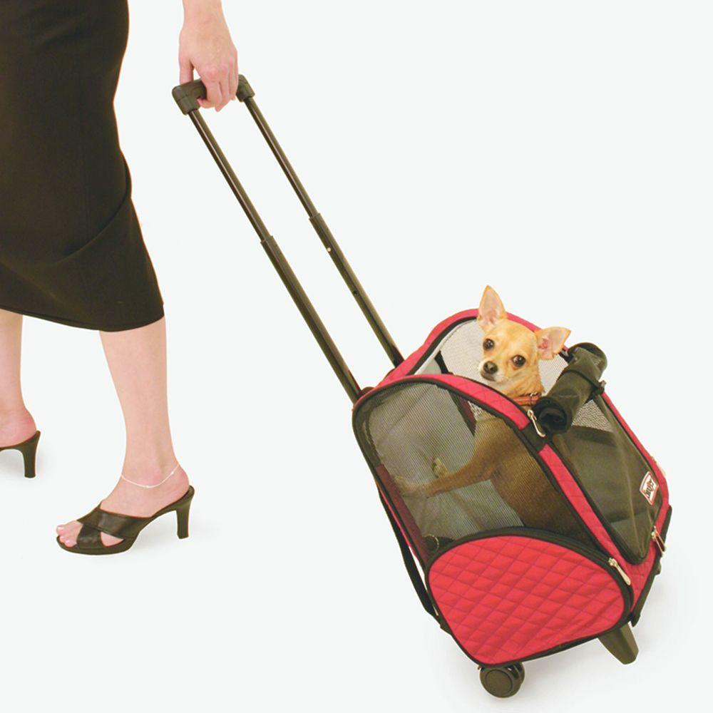 Snoozer 4 In 1 Pet Roll Around Size 12.25l X 15.5w X 23h Red