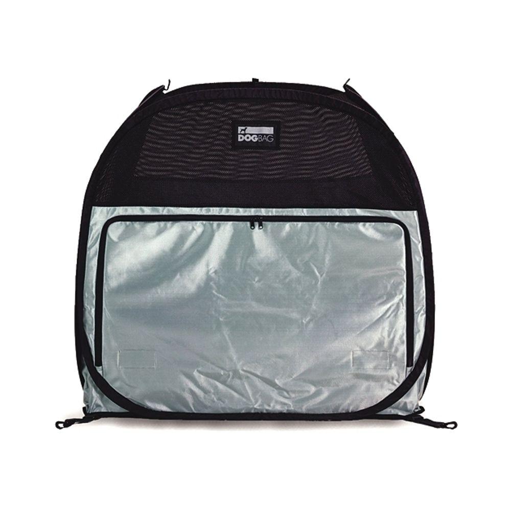 Petego Dog Bag Pet Tent Size 29.5l X 29.5w X 31.5h Black Silver