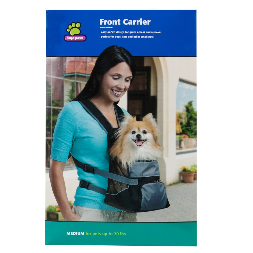 Top Paw® Front Carrier Pet Carrier, Black