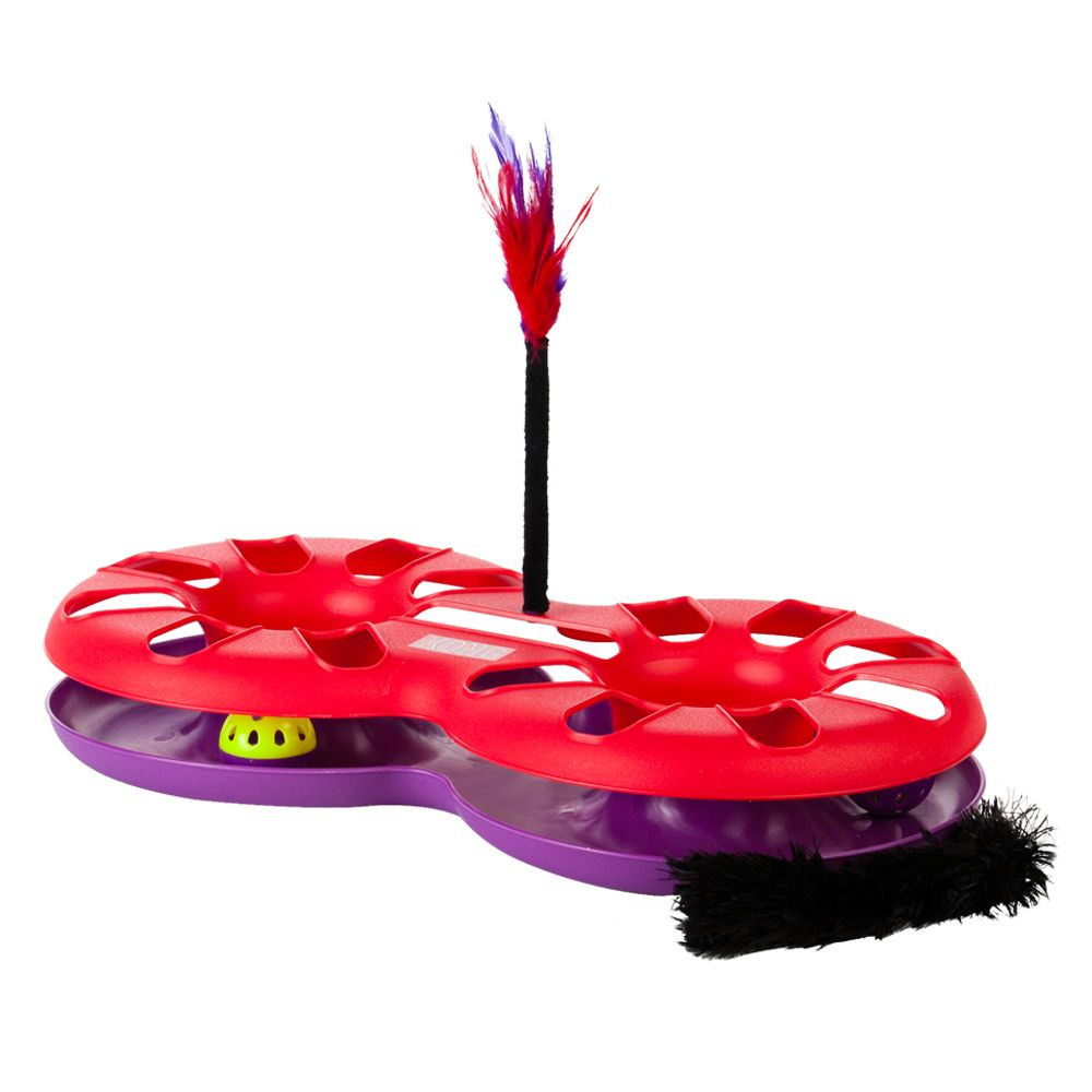 Kong Eight Track Cat Toy, Red & Purple 5193932