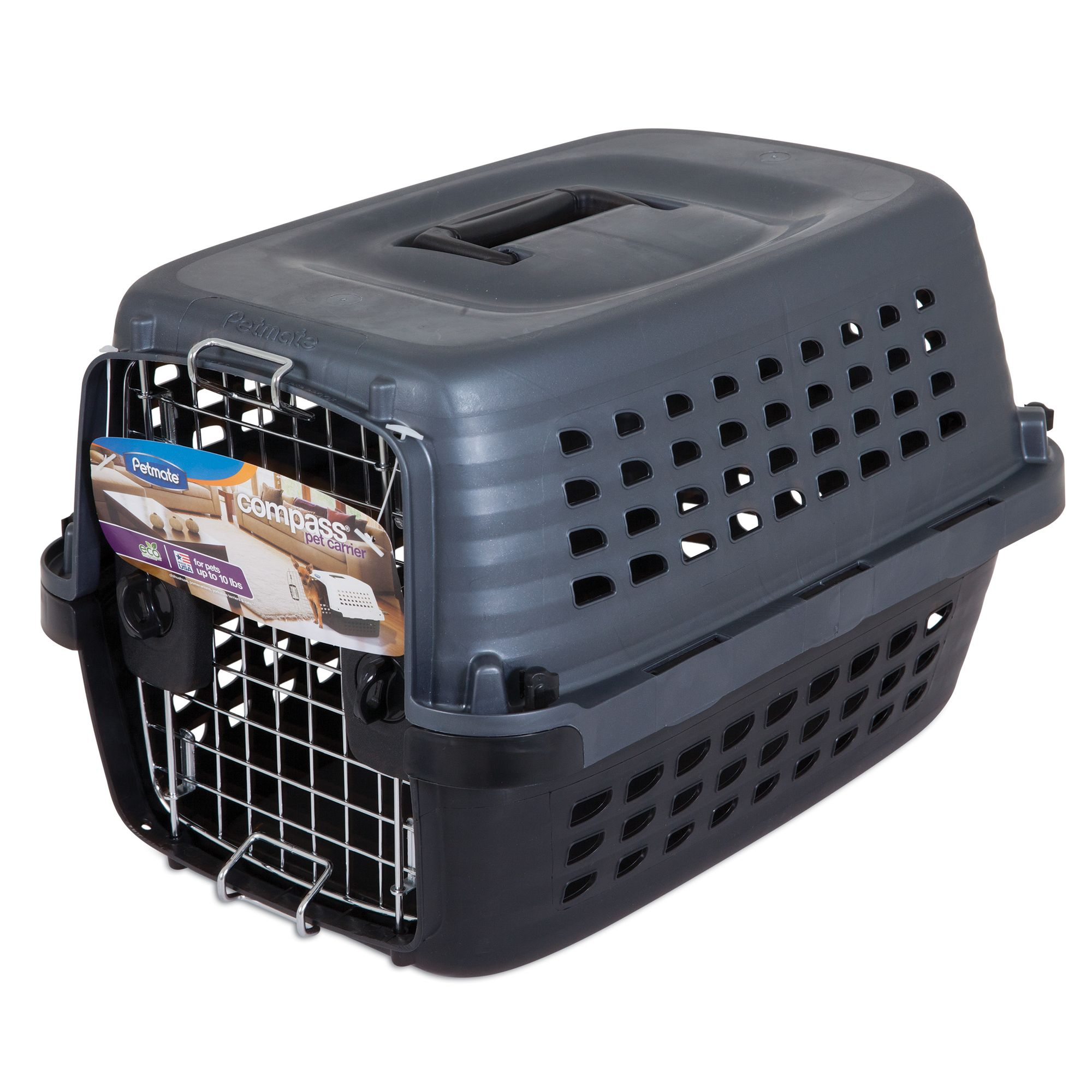 "Petmate® Compass Dog Carrier size: 19""L x 12.7""W x 11.5"""
