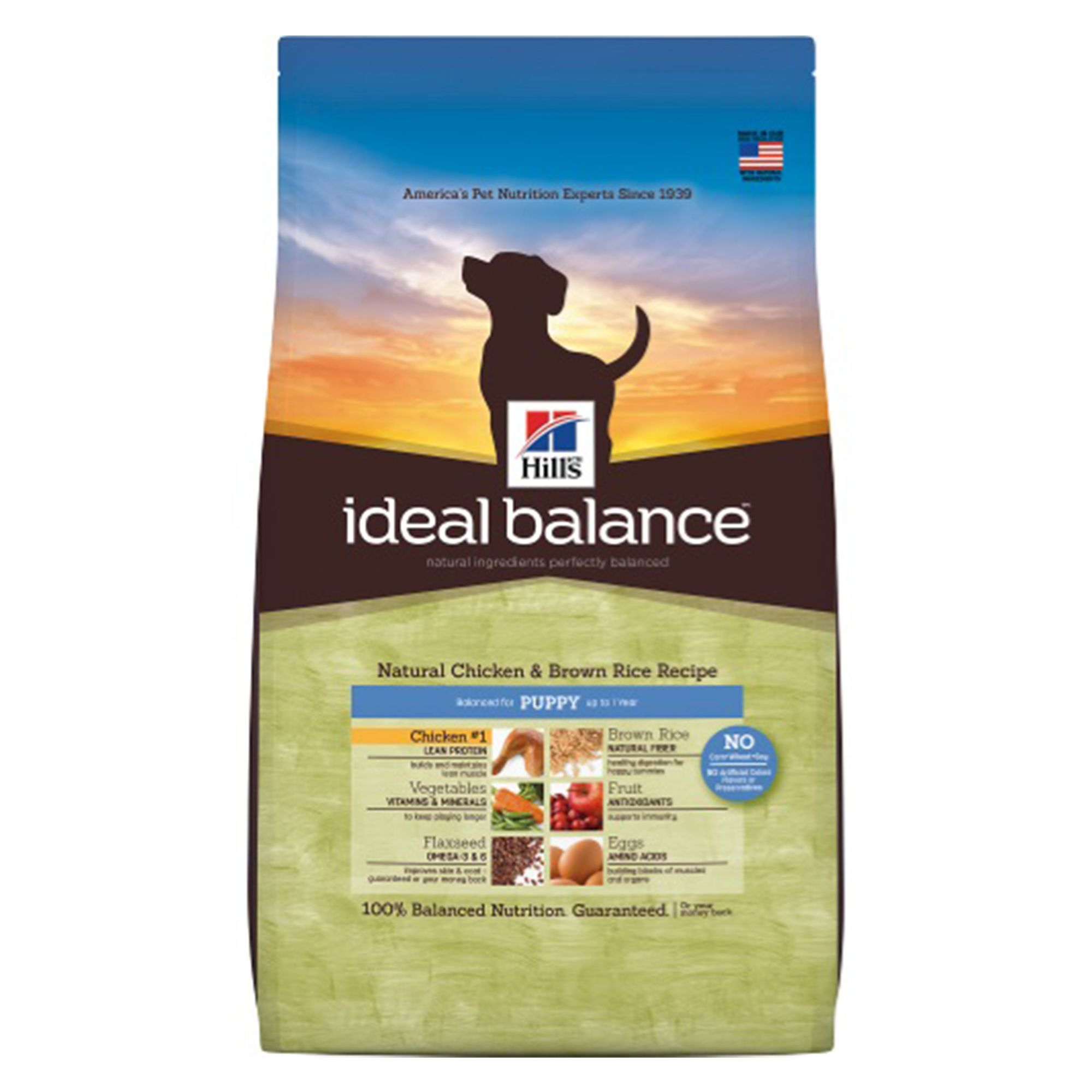 Hill's Ideal Balance, Puppy Dog Food size: 12.5 Lb, Chicken, Kibble, Balanced for puppies up to 1 year old and pregnant or nursing dogs. 5194309