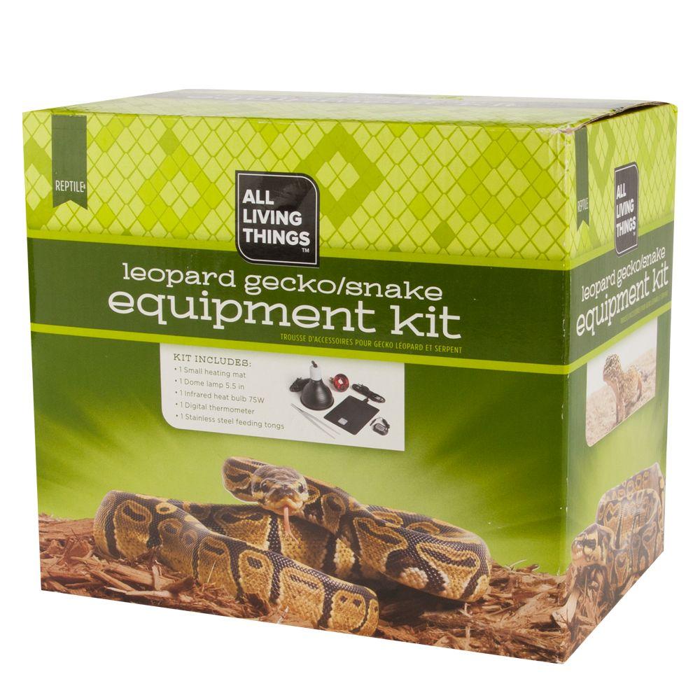 All Living Things Leopard Gecko Snake Equipment Kit