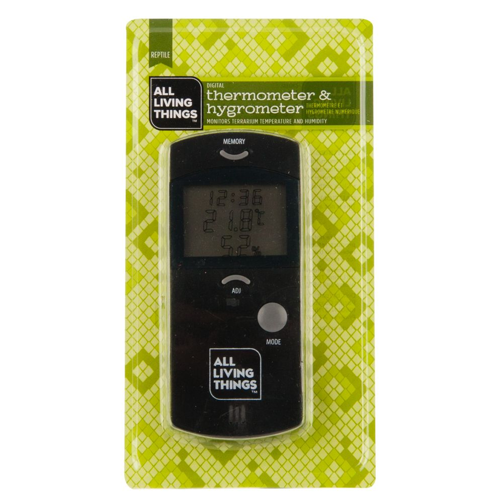 All Living Things Reptile Habitat Thermometer And Hygrometer
