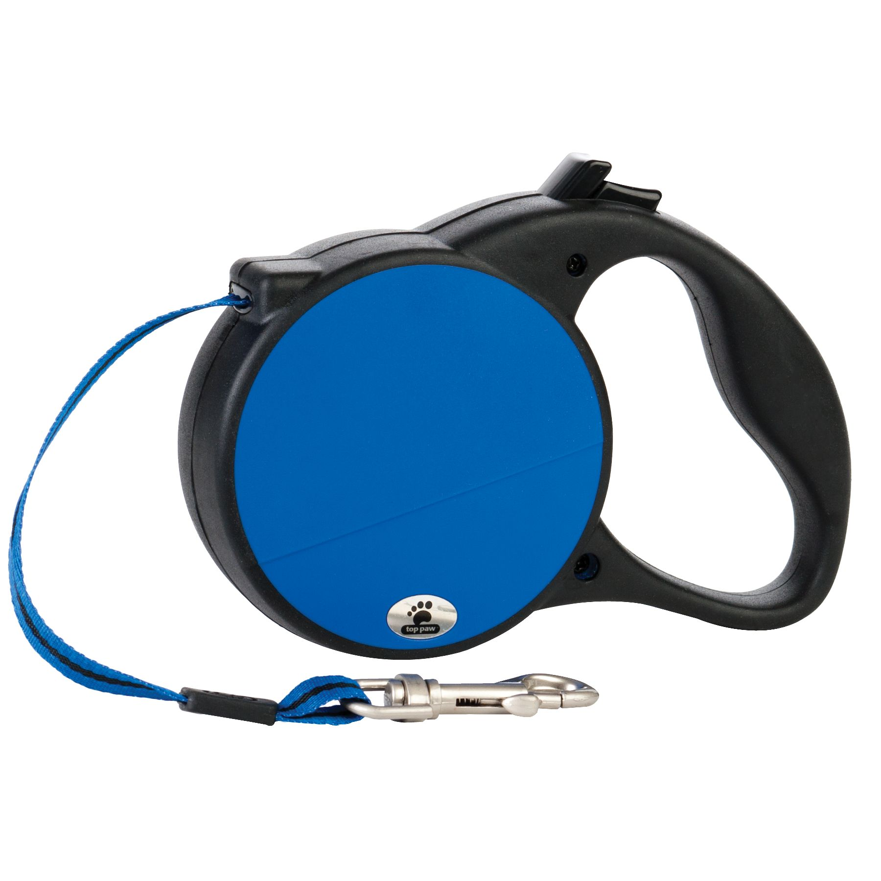 "Top Paw Retractable Dog Leash size: 6.3""L x 2.76""W, Blue 5195539"