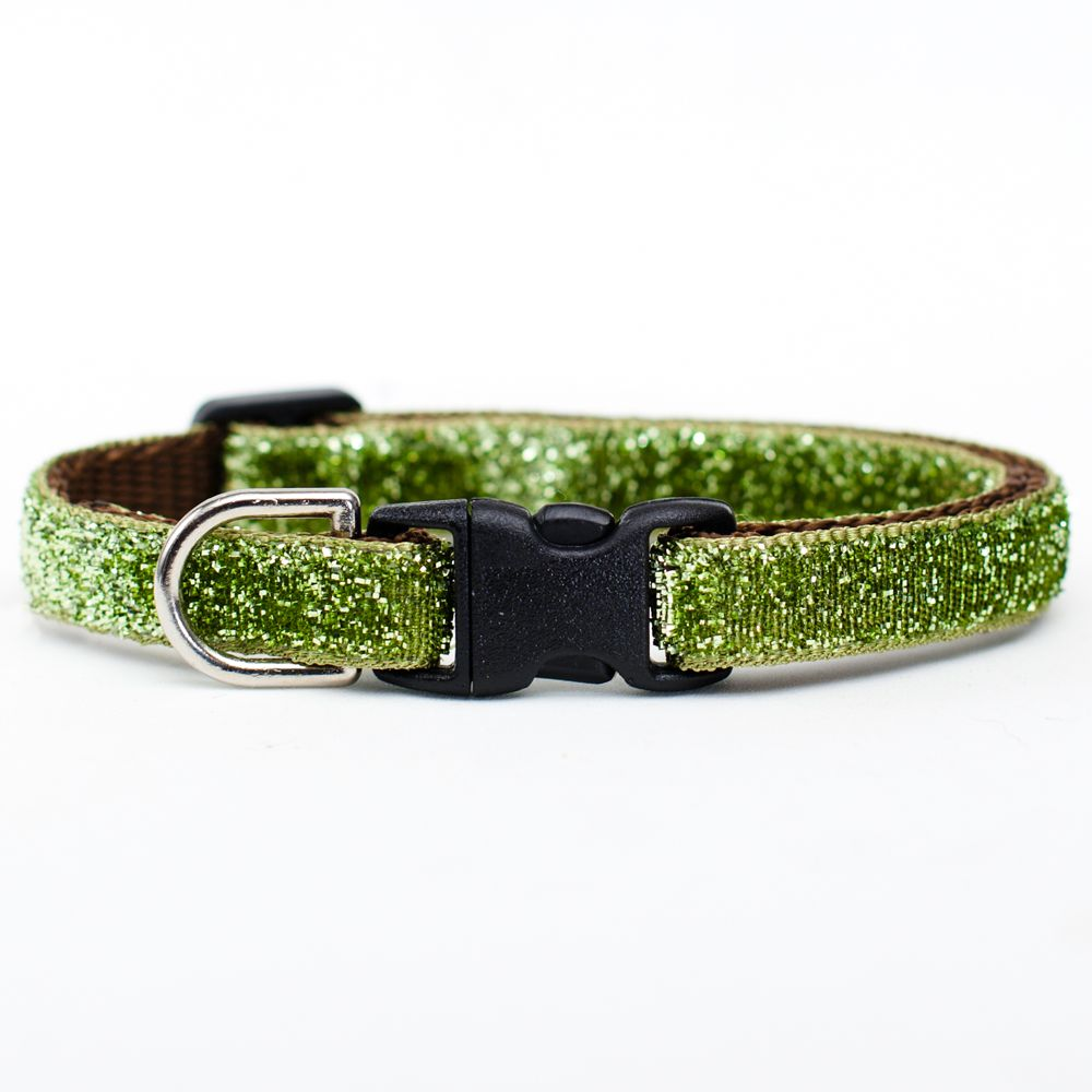 Sweet Pickles The Entertainer Breakaway Cat Collar Size 7l X 0.375w Green