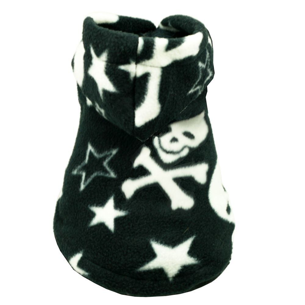 Hip Doggie Polar Fleece Hoodie for Dogs size: 2X Small, Black 5195999