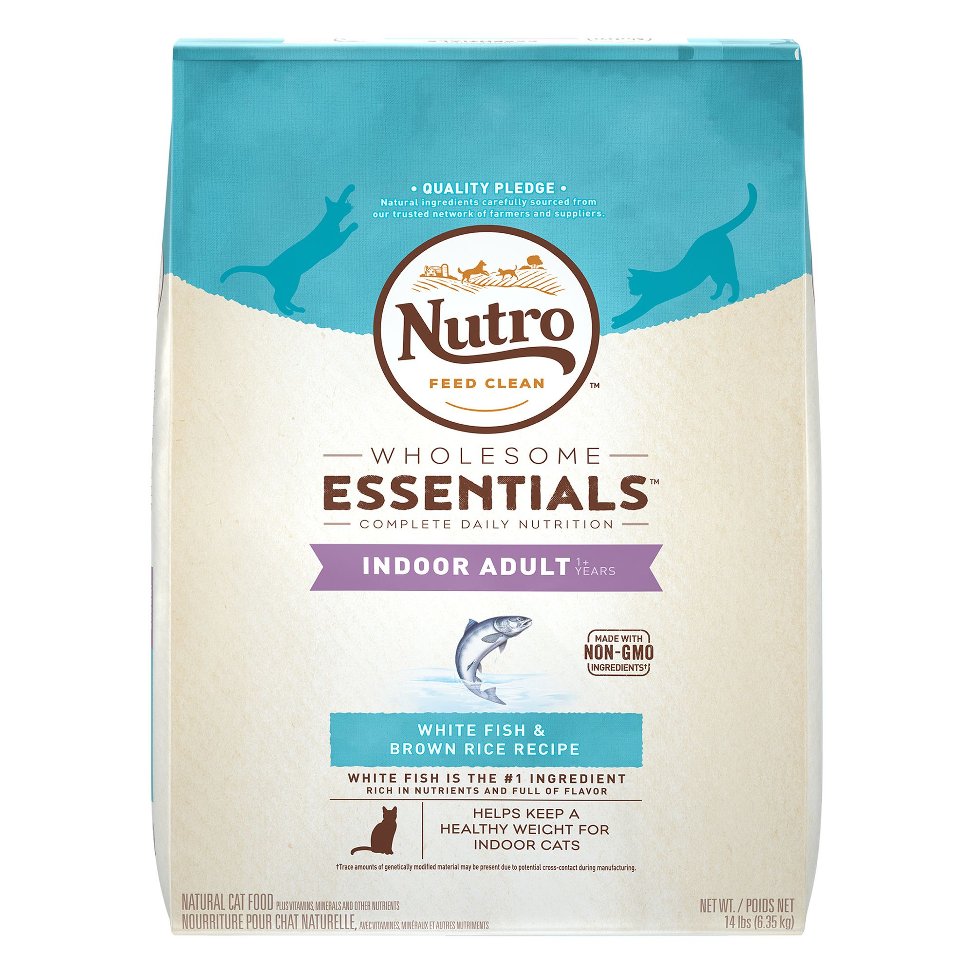 Nutro Natural Choice Indoor Adult Cat Food size: 14 Lb, Whitefish, Kibble, (1-7 Years) 5197298