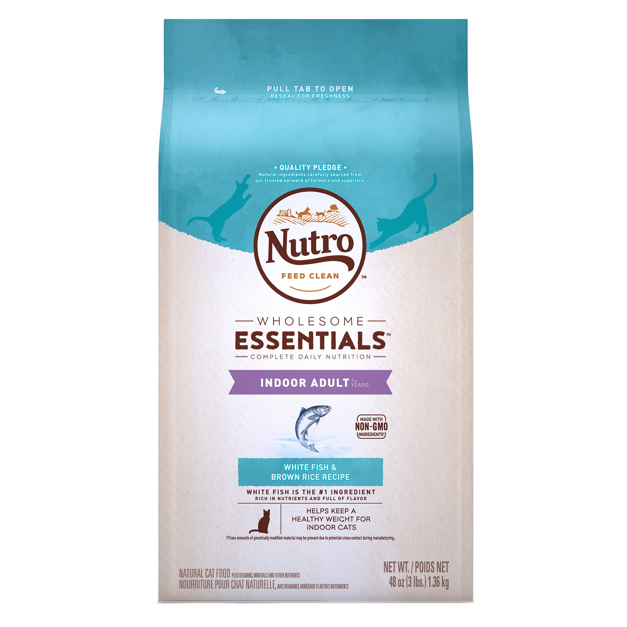 Nutro Natural Choice Indoor Adult Cat Food size: 3 Lb, Whitefish, Kibble, (1-7 Years) 5197349