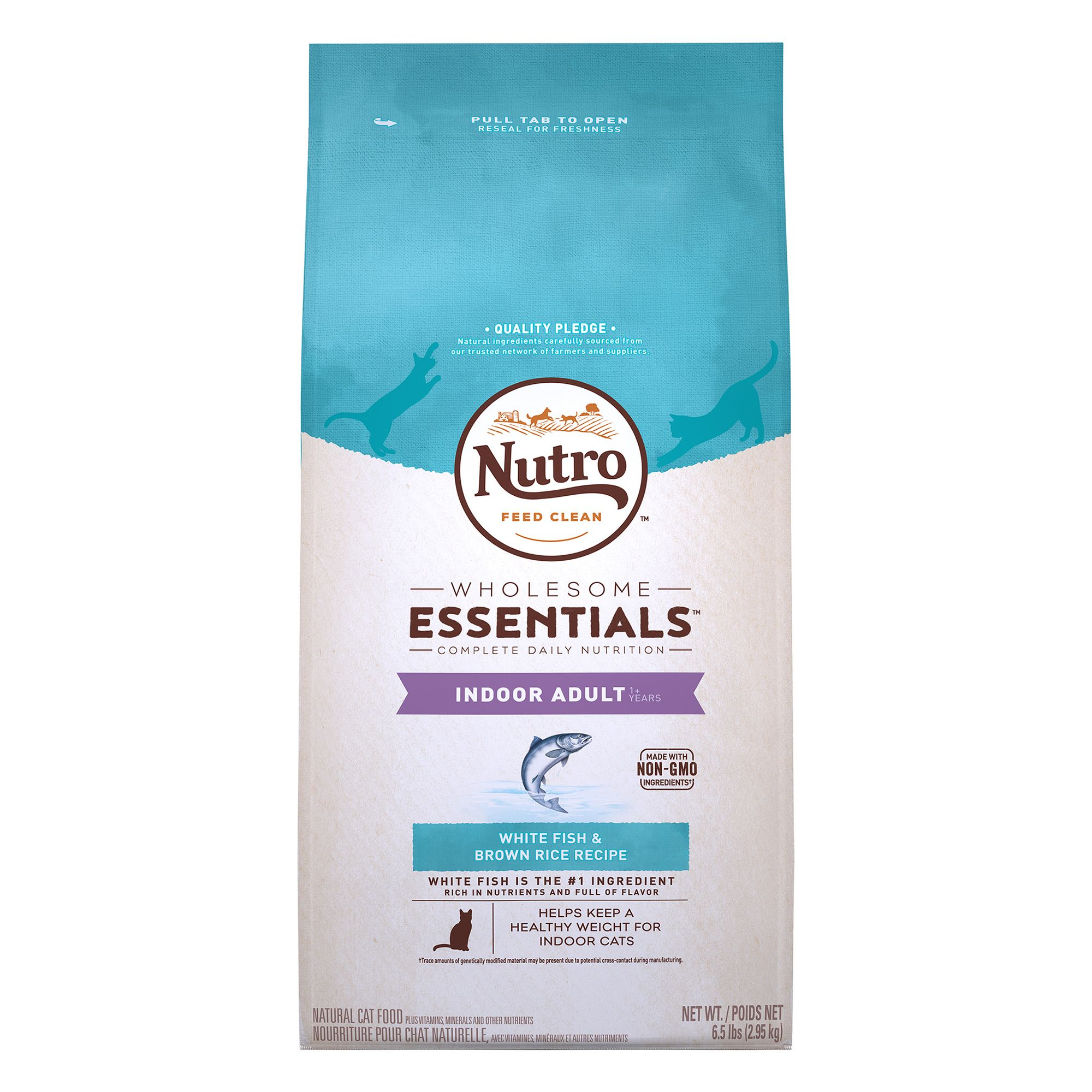Nutro Natural Choice Indoor Adult Cat Food size: 6.5 Lb, Whitefish, Kibble, (1-7 Years) 5197352