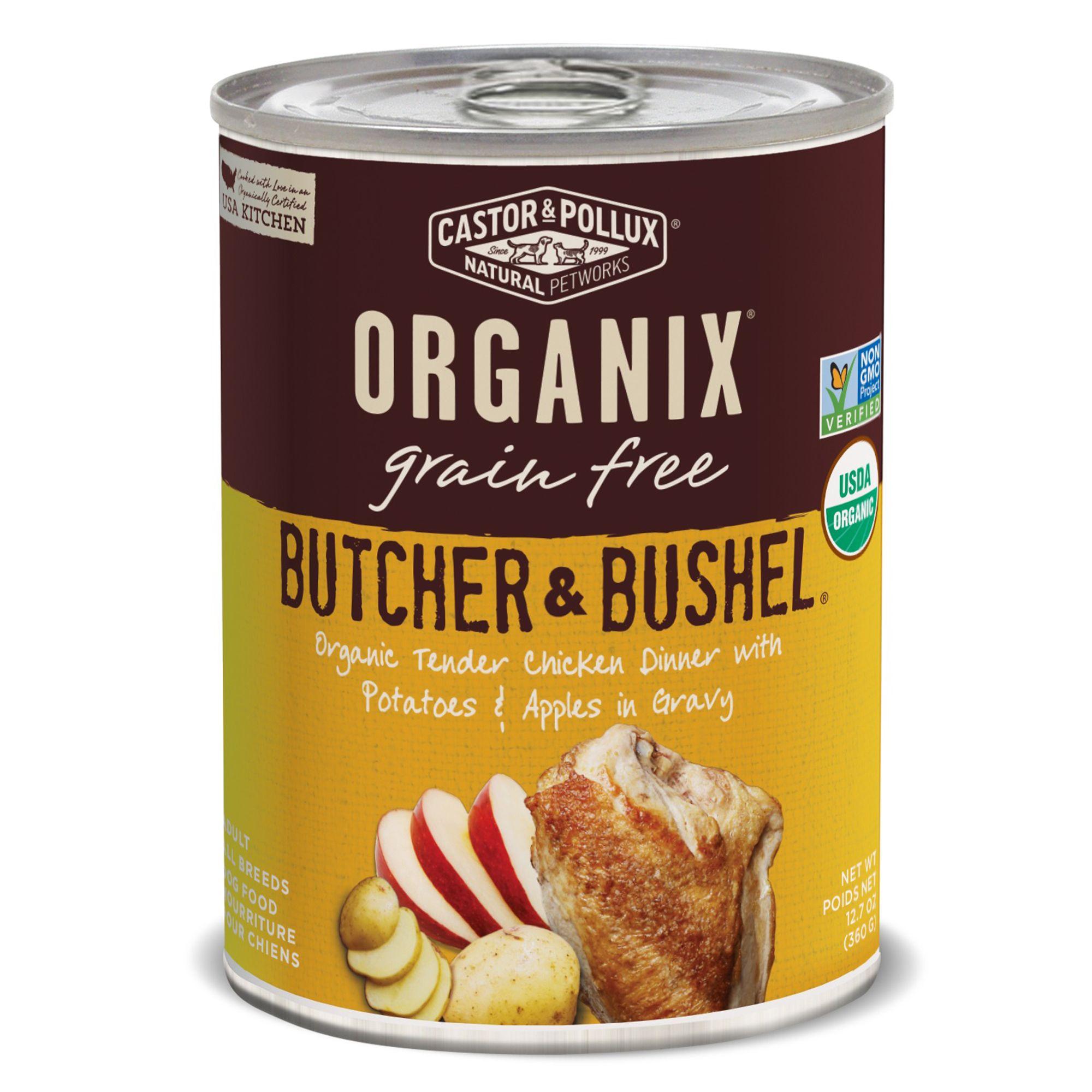 food health canned organix butcher bushel grain free adult