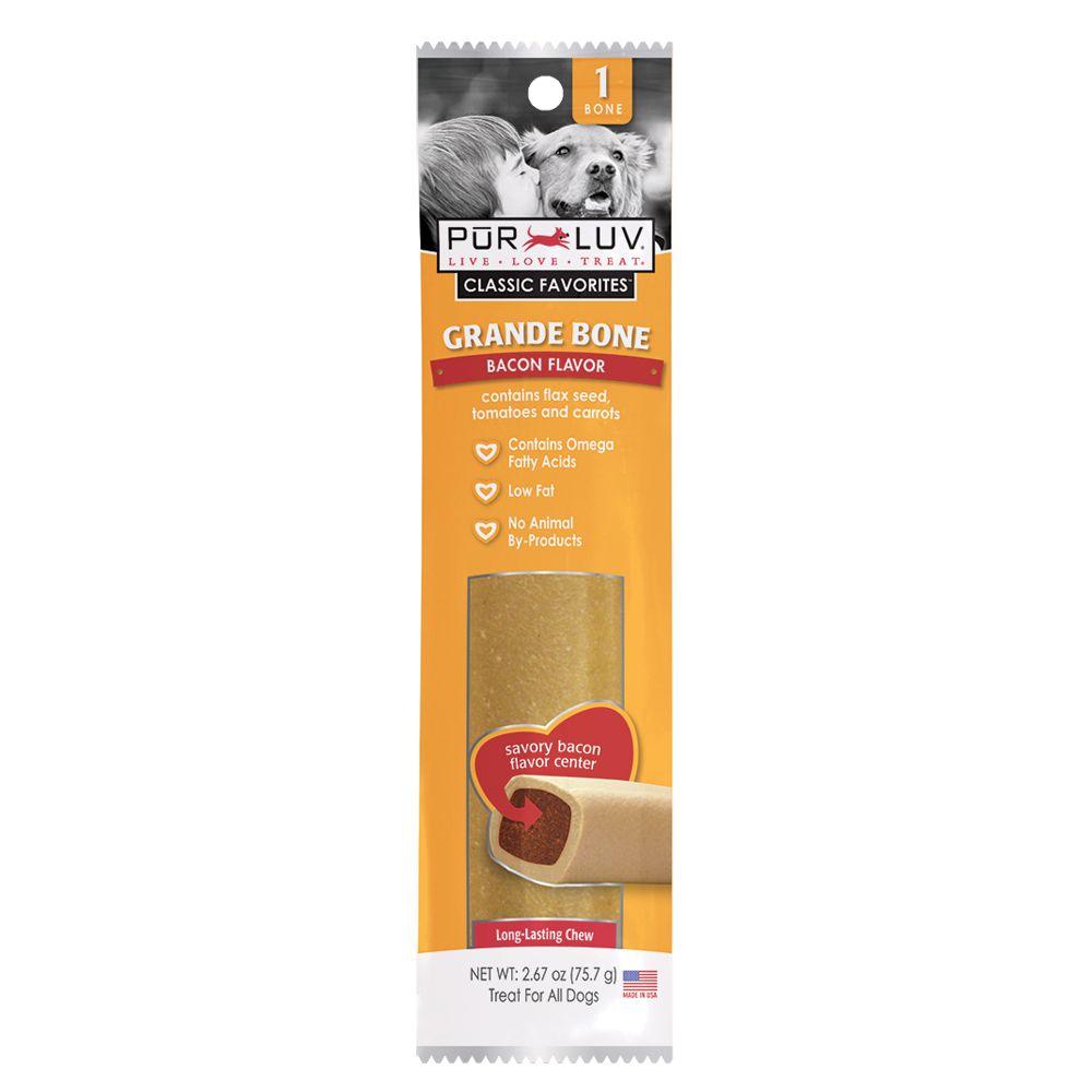 Pur Luv Flavored Bone Dog Treat Size 2.6 Oz