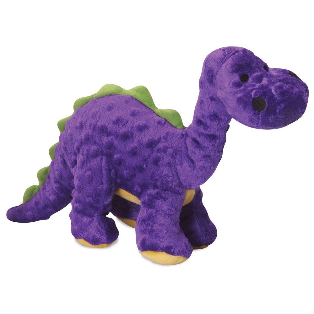 Godog Bruto The Brontosaurus Dino Squeaker Dog Toy Size Large Purple