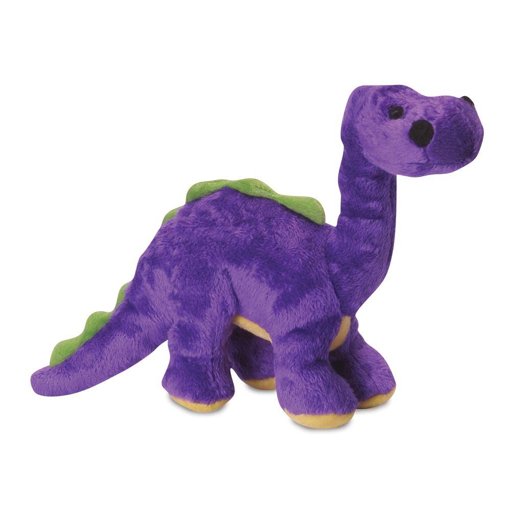 Godog Bruto The Brontosaurus Dino Squeaker Dog Toy Size Small Purple