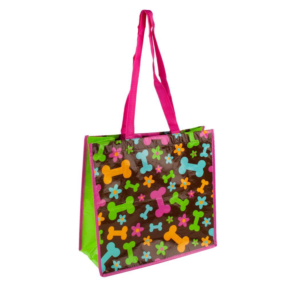 Petsmart Bone And Flower Recycled Pet Bag Multi Color