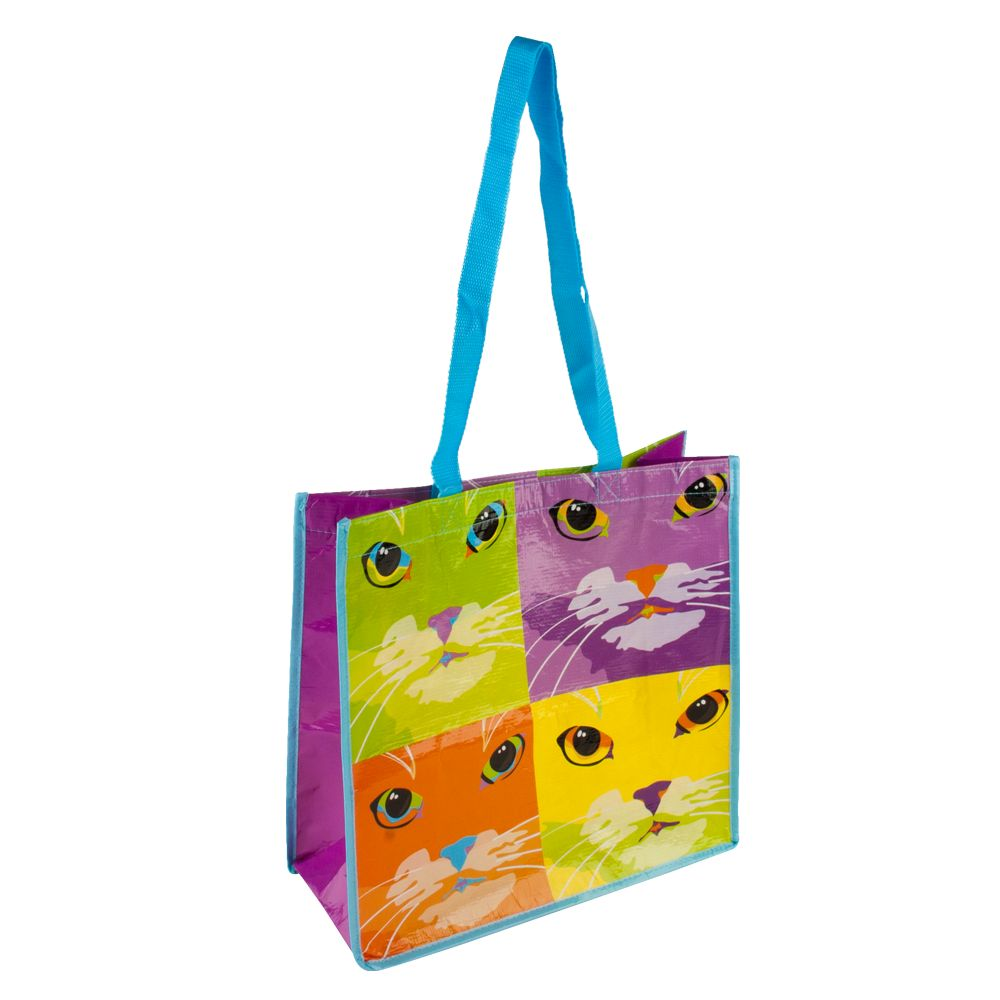 Petsmart Cat Pop Art Recycled Pet Bag Multi Color