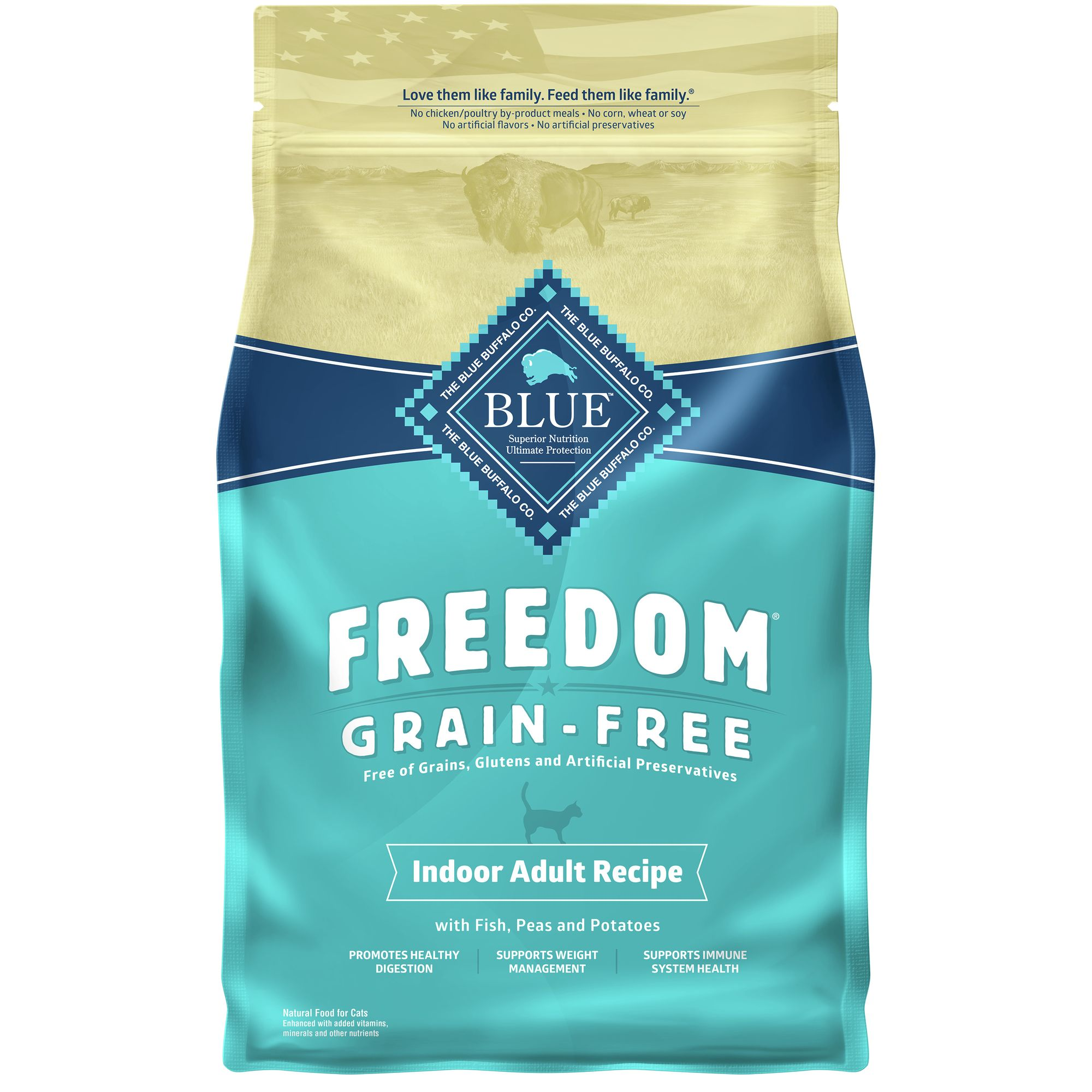 Blue Freedom® Grain Free Fish Indoor Cat Food size: 5 Lb