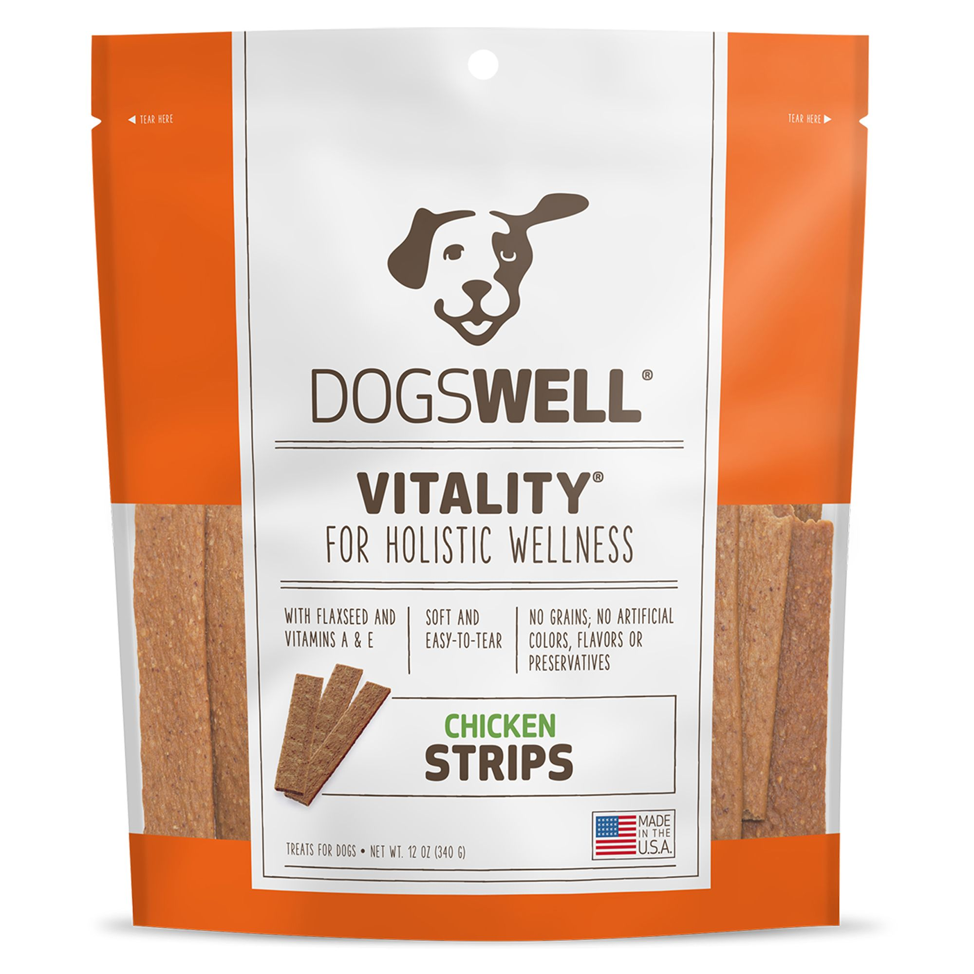 Dogswell Vitality Grain Free Chicken Strips Dog Treat Size 12 Oz