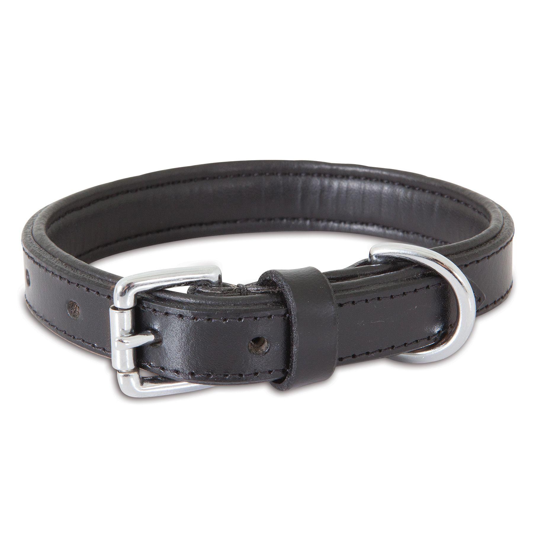 "Petmate Leather Dog Collar size: 18""L x 1""W, Black 5202131"