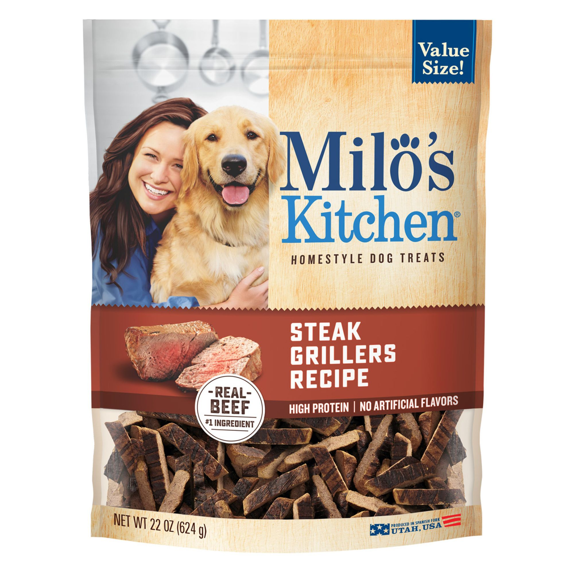 Milo's Kitchen Dog Treat - Steak Grillers size: 22 Oz 5202707