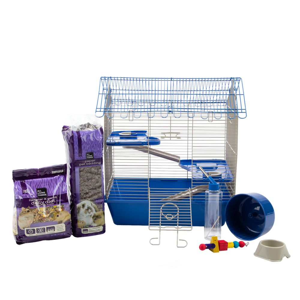 wire hamster cage starter kit