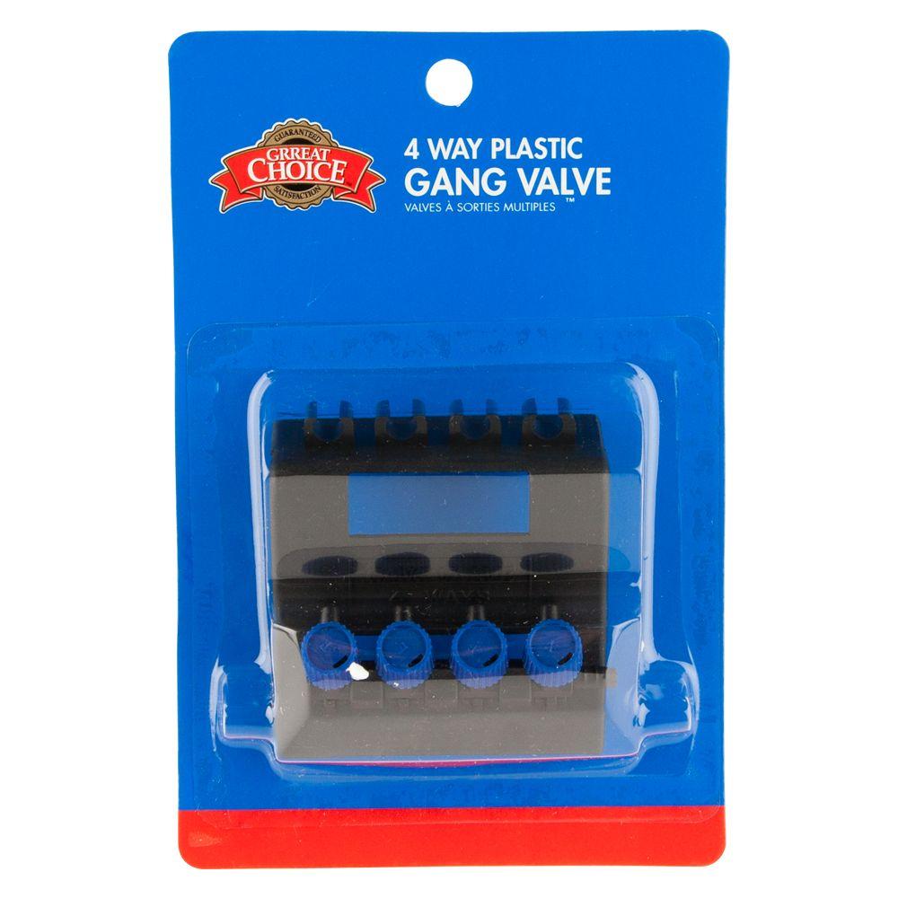 Grreat Choice 4 Way Gang Valve Size 1 Count