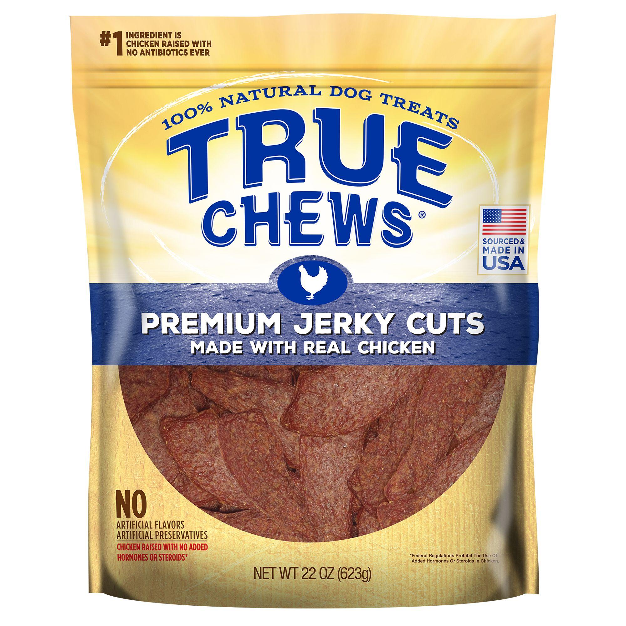 True Chews Premium Jerky Cuts Dog Treat Natural Chicken Size 22 Oz