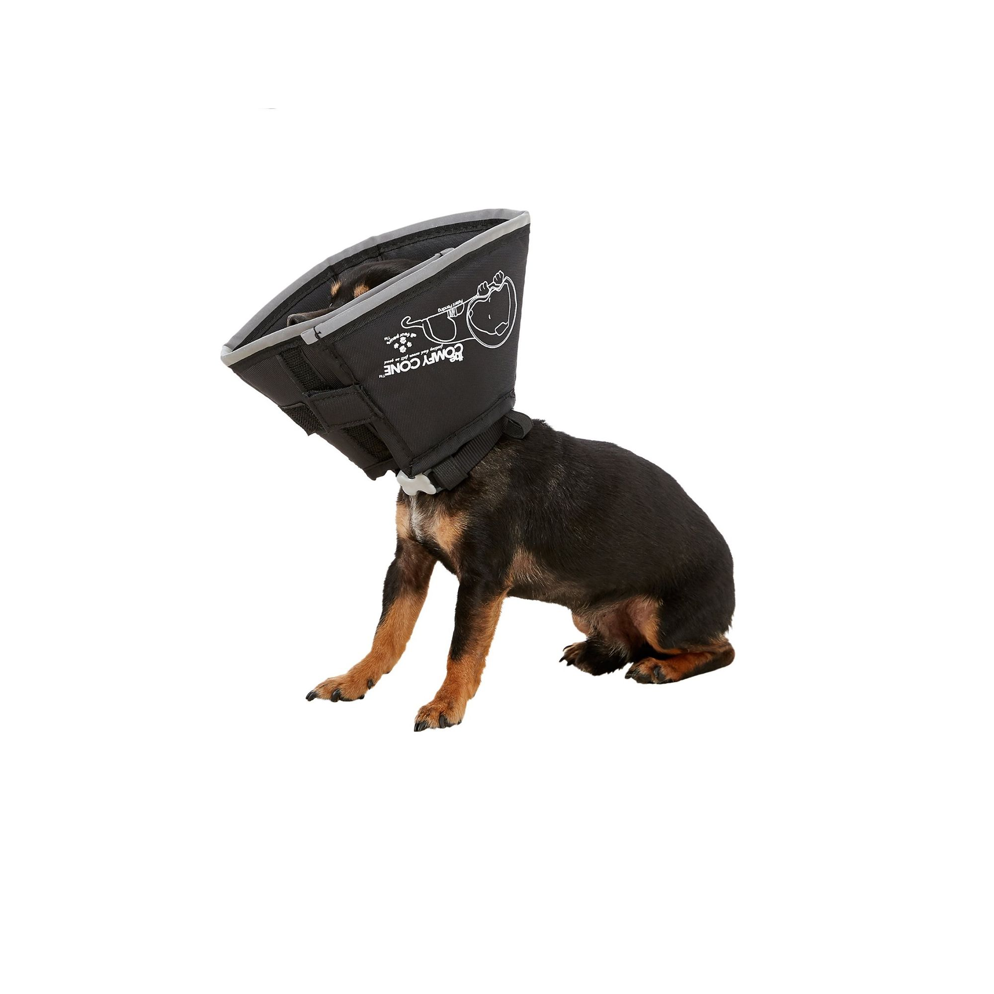 All Four Paws Comfy Cone Dog Collar Size Medium Black