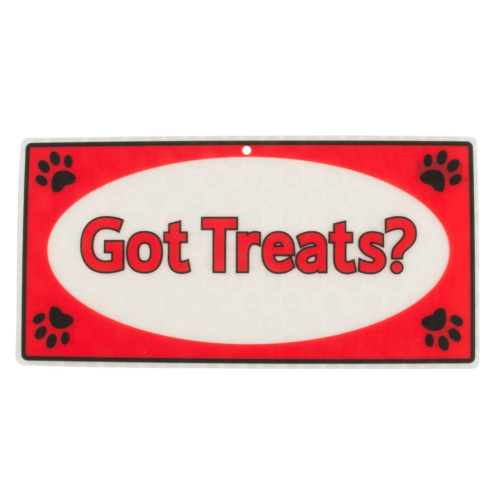 Hillman Got Treats Sign Size Small/medium/large Red White