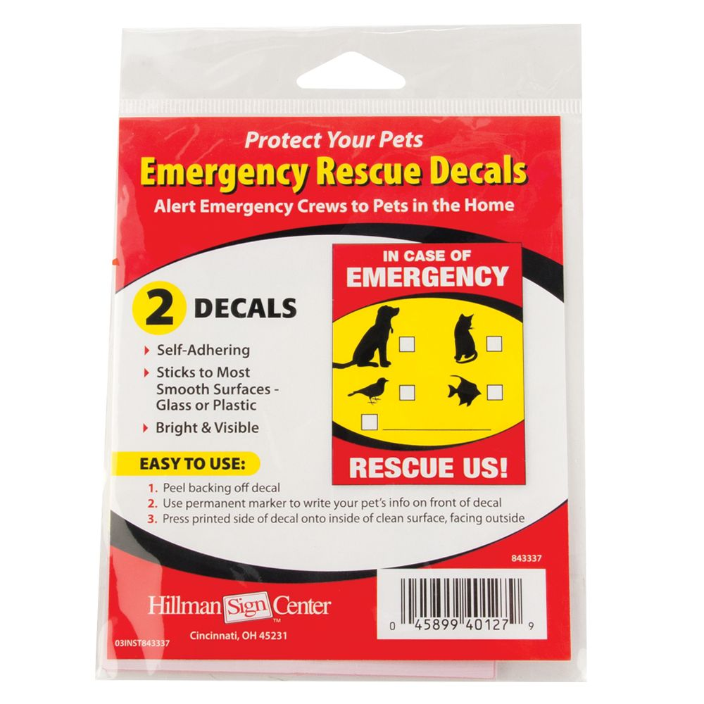 Hillman Emergency Rescue Decal Red Yellow